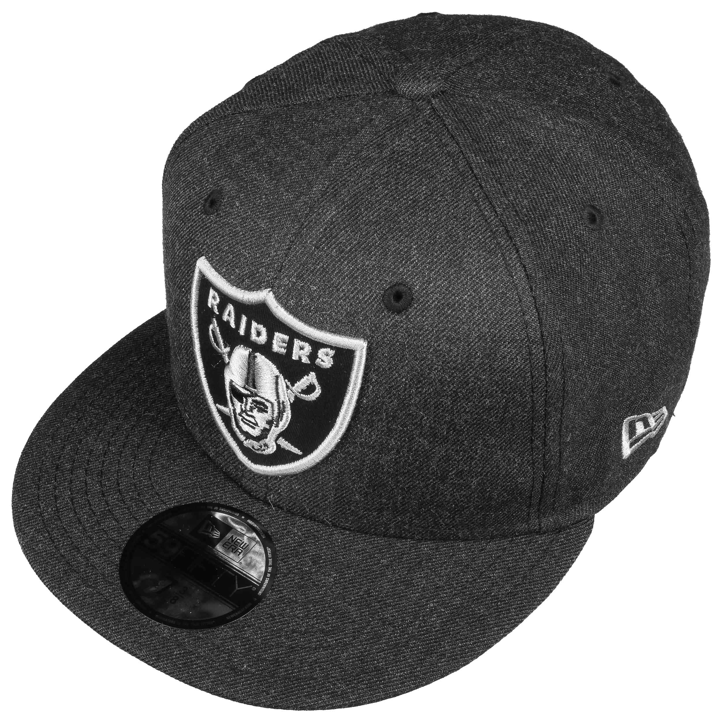 40b8ec3b5 59Fifty NFL Heather Raiders Cap by New Era - black 1 ...
