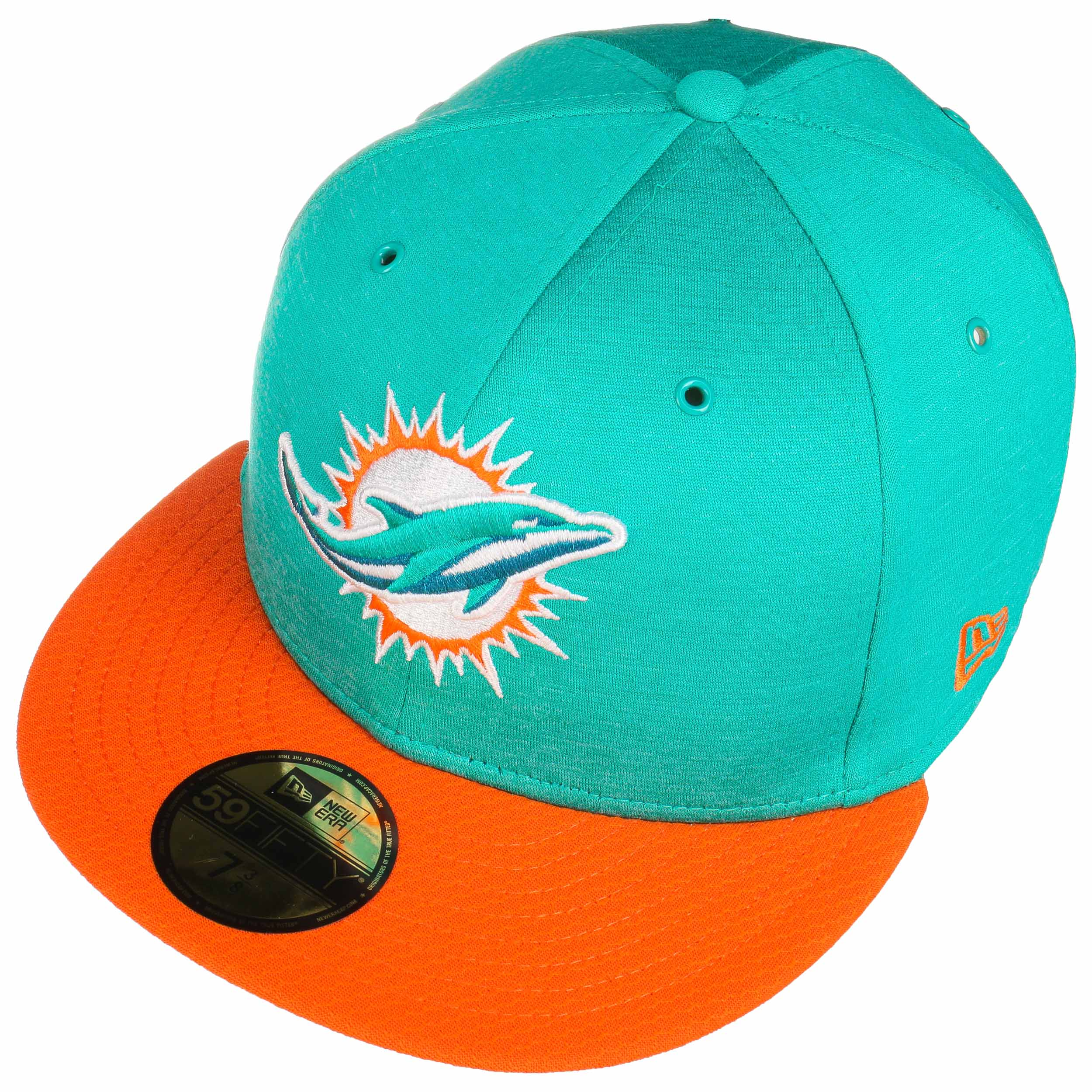 57ecc8025fb 59Fifty On-Field 18 Dolphins Cap by New Era - turquoise 1 ...