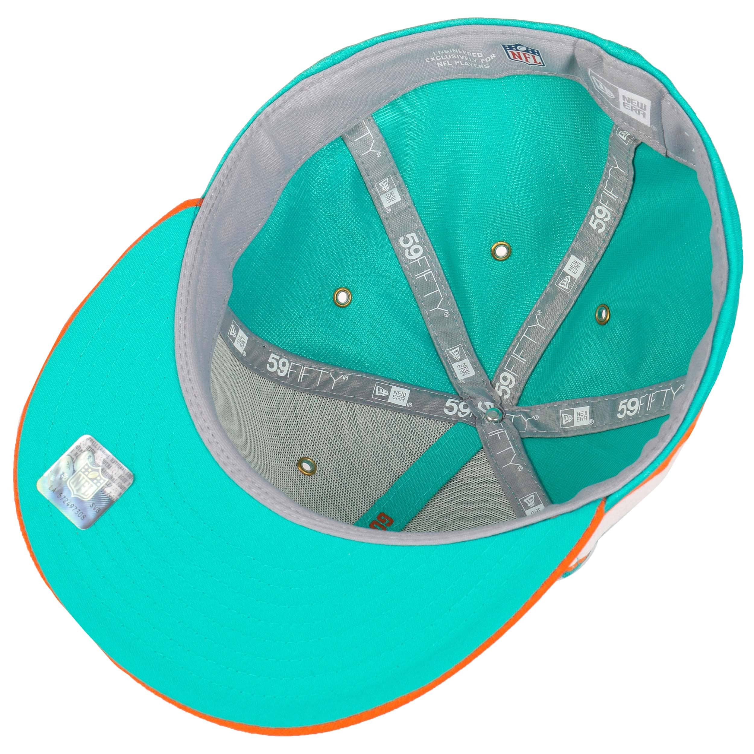 db8d454a8d4 ... 59Fifty On-Field 18 Dolphins Cap by New Era - turquoise 3 ...