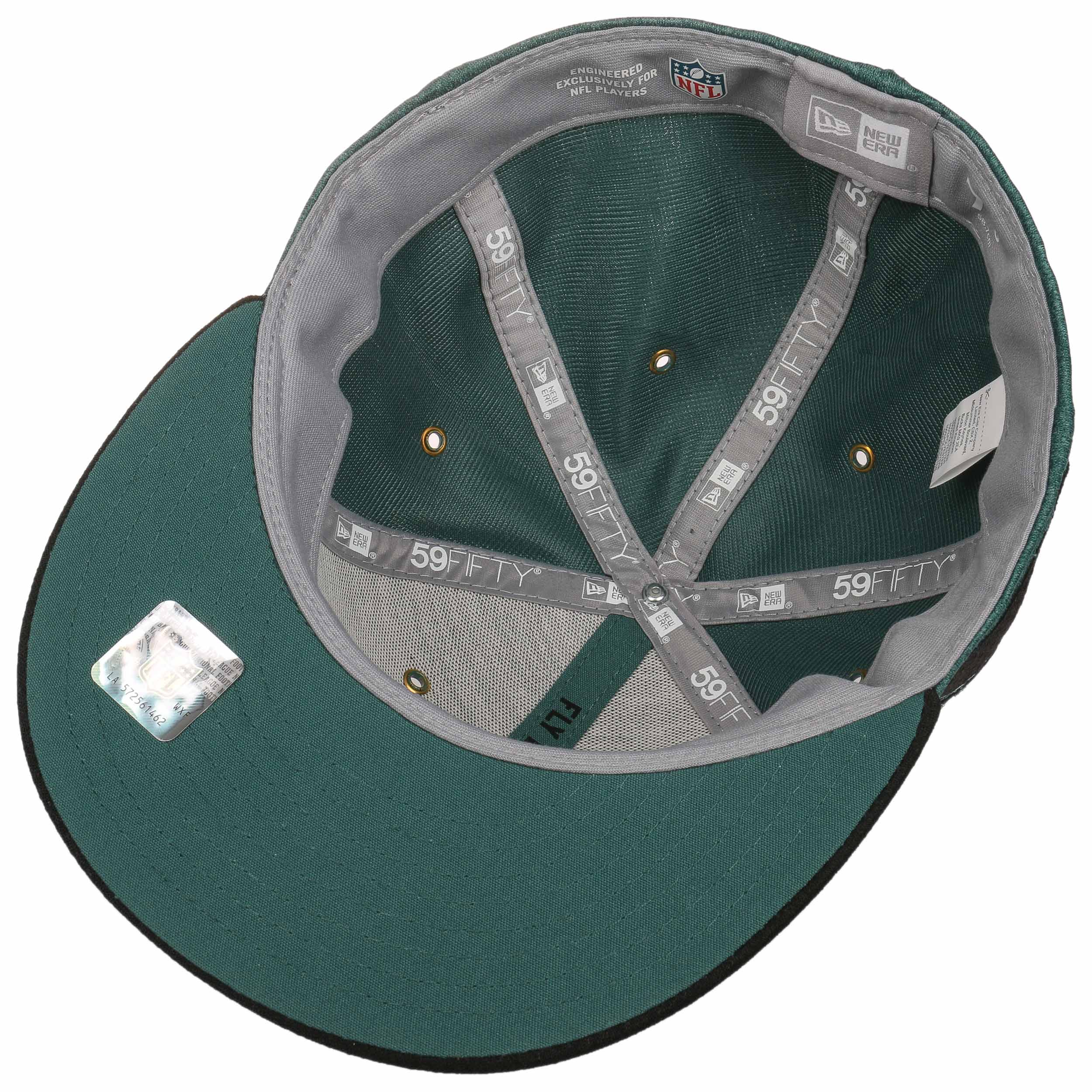 69797acb3b7 ... 59Fifty On-Field 18 Eagles Cap by New Era - dark green 3 ...