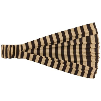 Lipodo 3 in 1 Lurex Stripes Headband Bandana Halstuch Stirnband - Bild 1