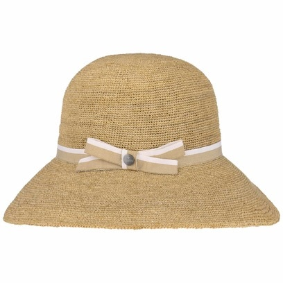Lierys Crochet Strohglocke Raffiahut Strohhut Damenglocke Damenhut Sonnenhut Strandhut Hut
