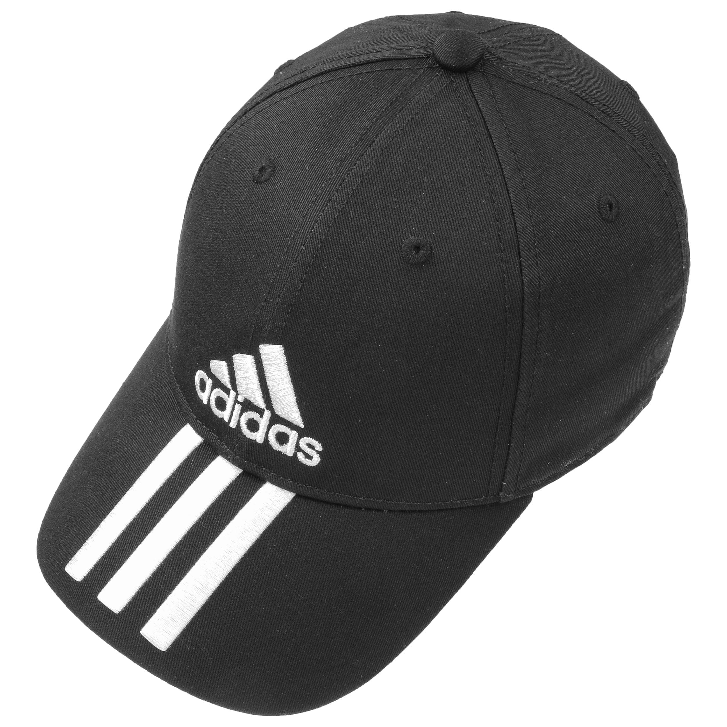 ... 6P 3S Cotton Strapback Cap by adidas - black 1 ... a969cae758d3