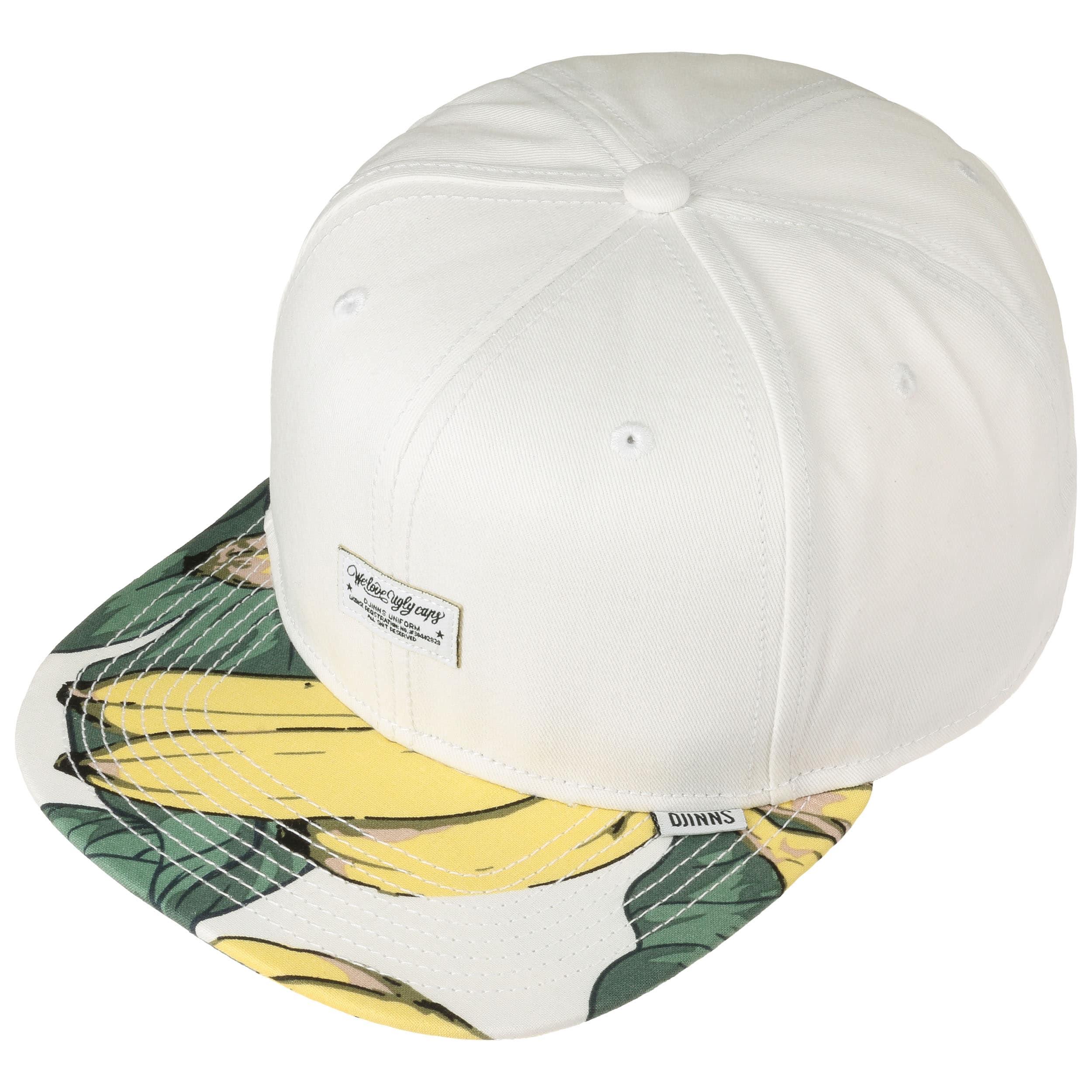 6P Reverse Banana Snapback Cap by Djinns - white 1 ... fb0d555731c