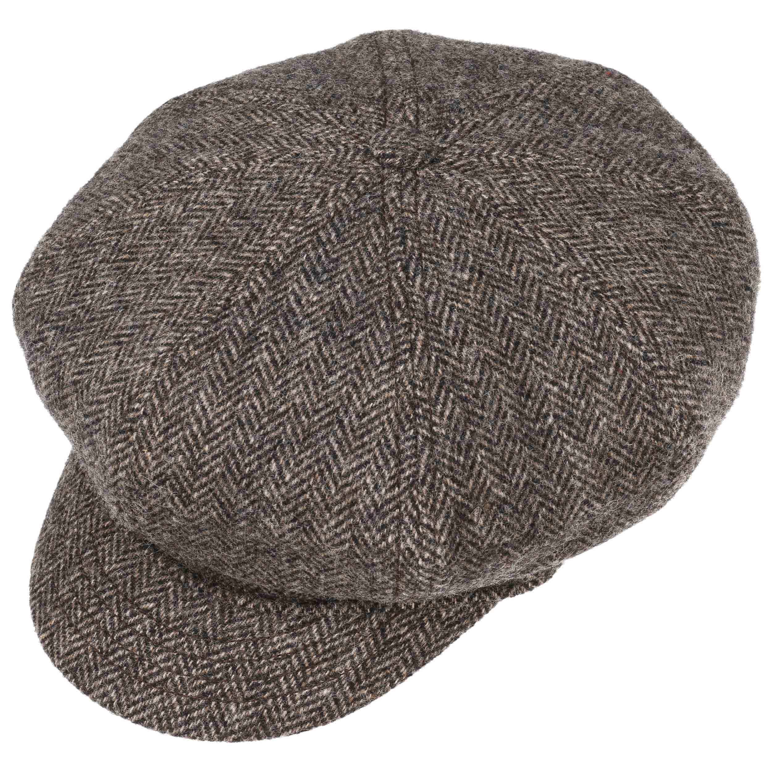 8-Panel Woolrich Newsboy Cap by Stetson - brown 1 ... 18dc44c35ae