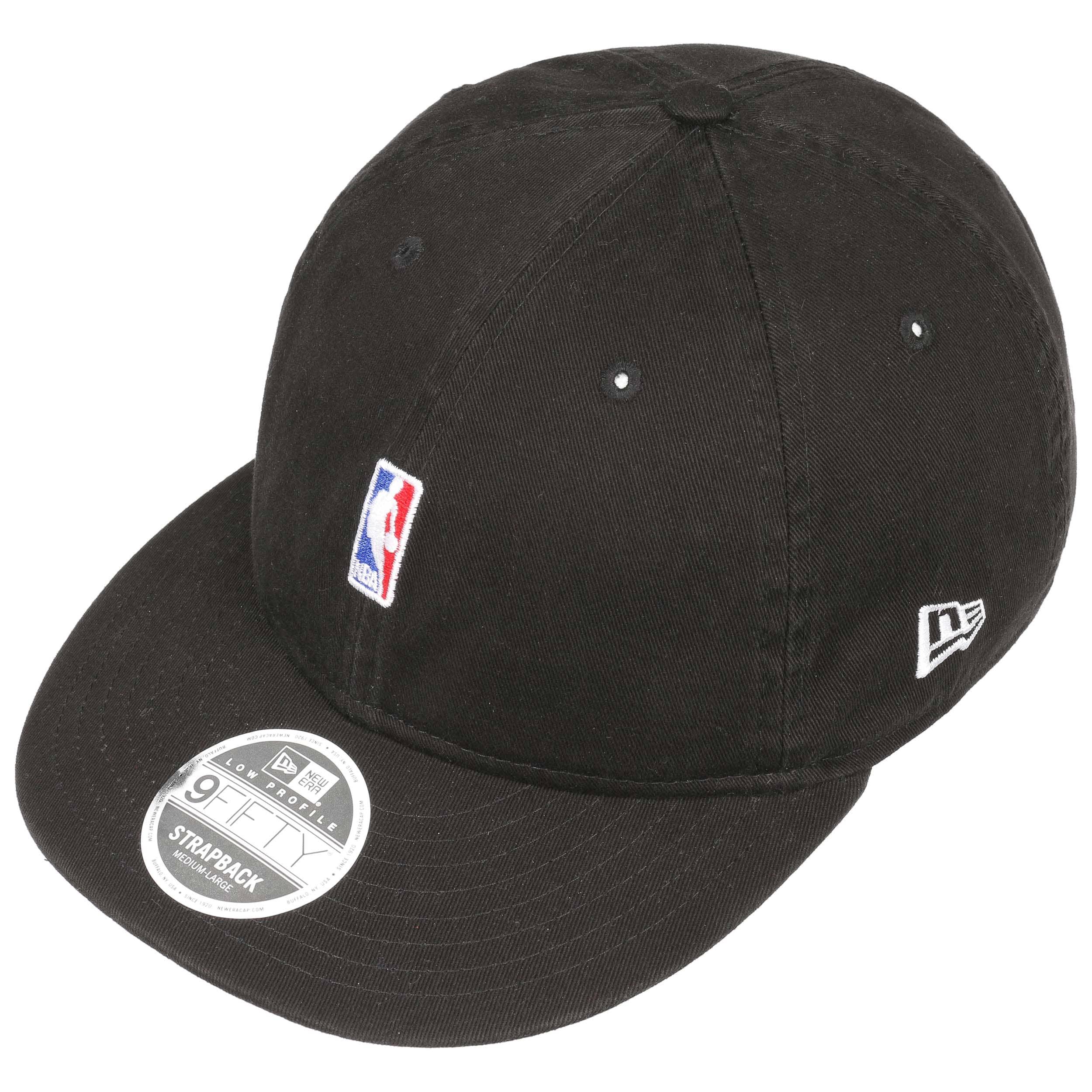 96172a765b6b55 9Fifty Low Crown NBA Logo Cap by New Era - black 1 ...