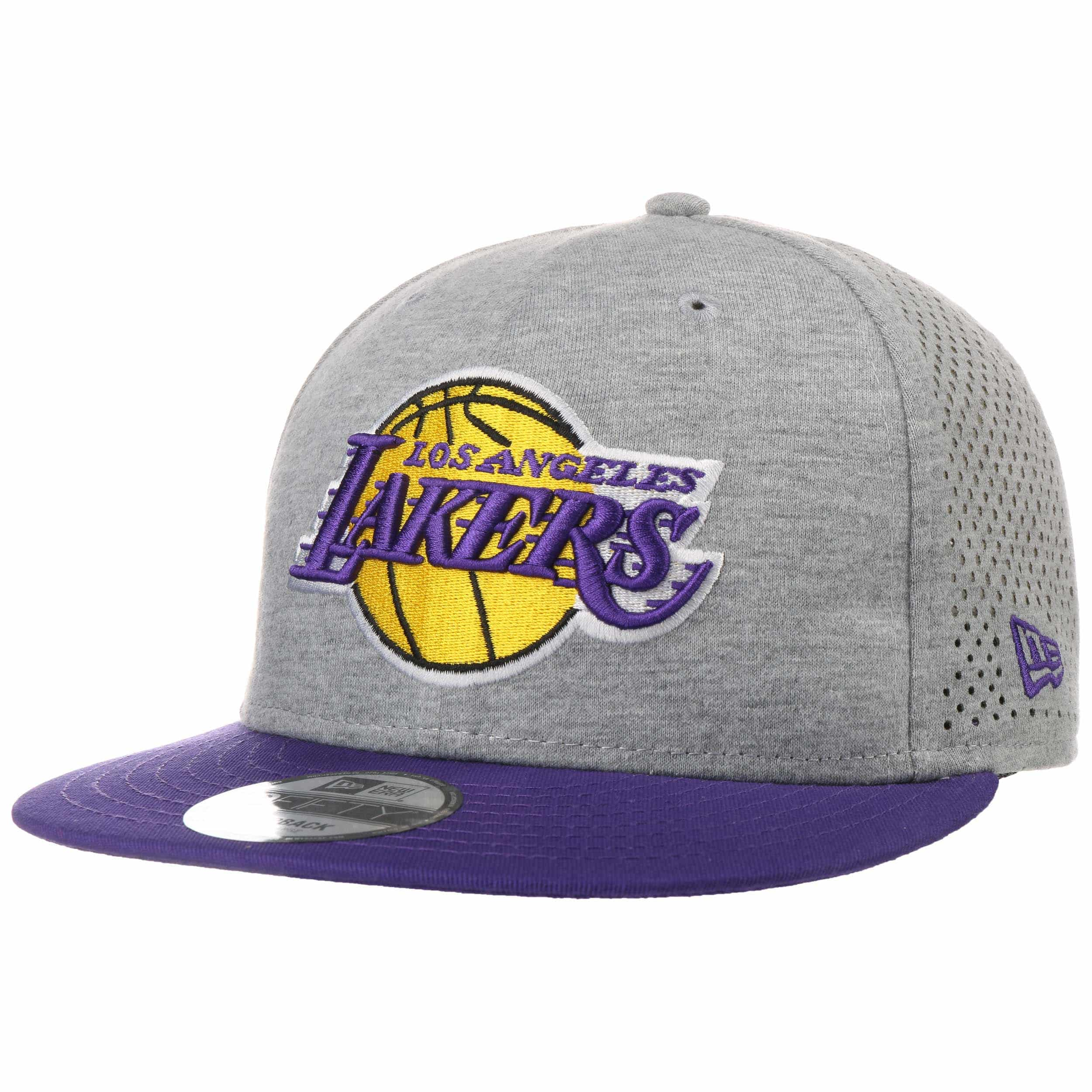 reputable site 0ab52 5f07a 9Fifty Shadow Tech Lakers Cap by New Era - light grey 1