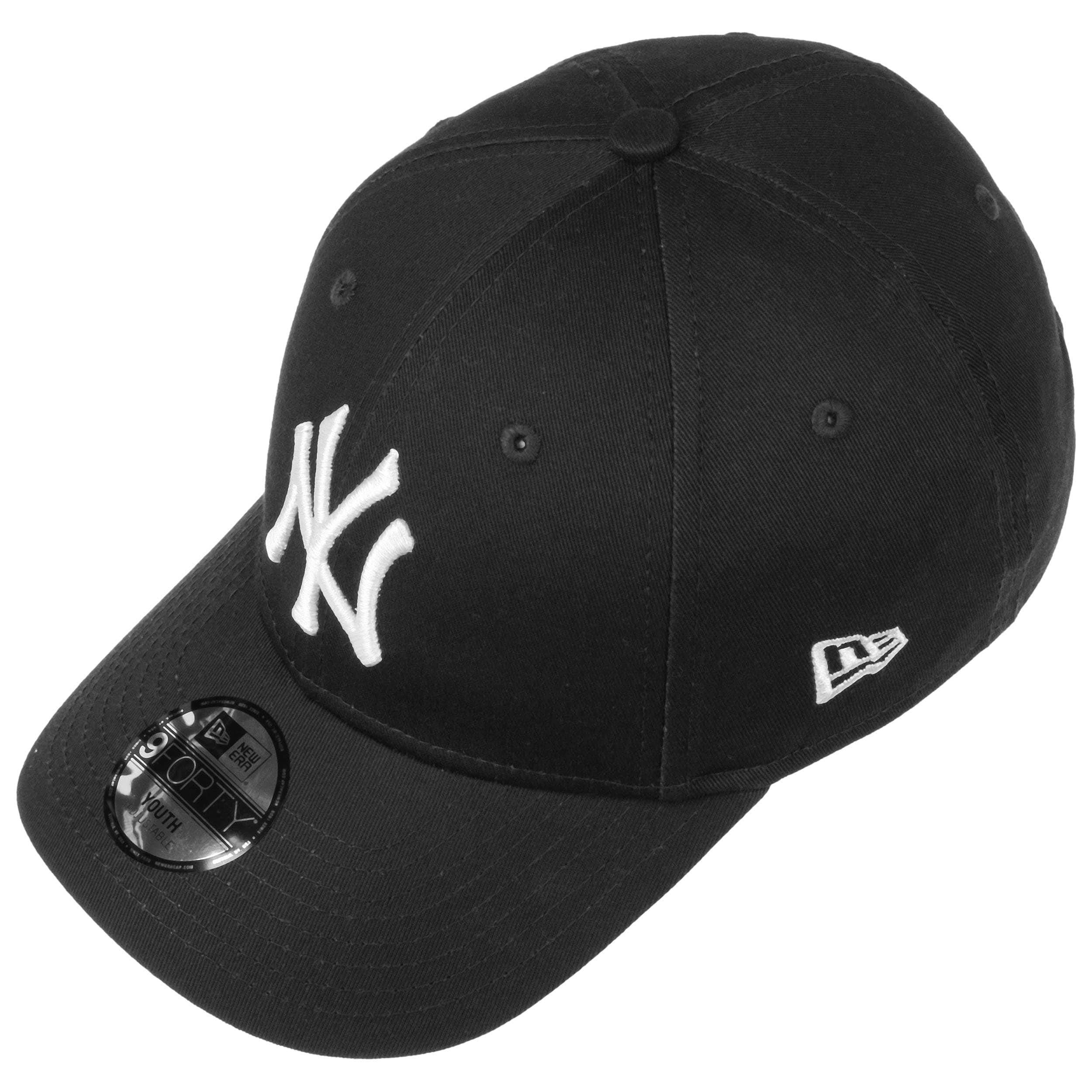 298912e6f292a ... 9Forty JUNIOR NY Yankees Cap by New Era - black-white 1 ...