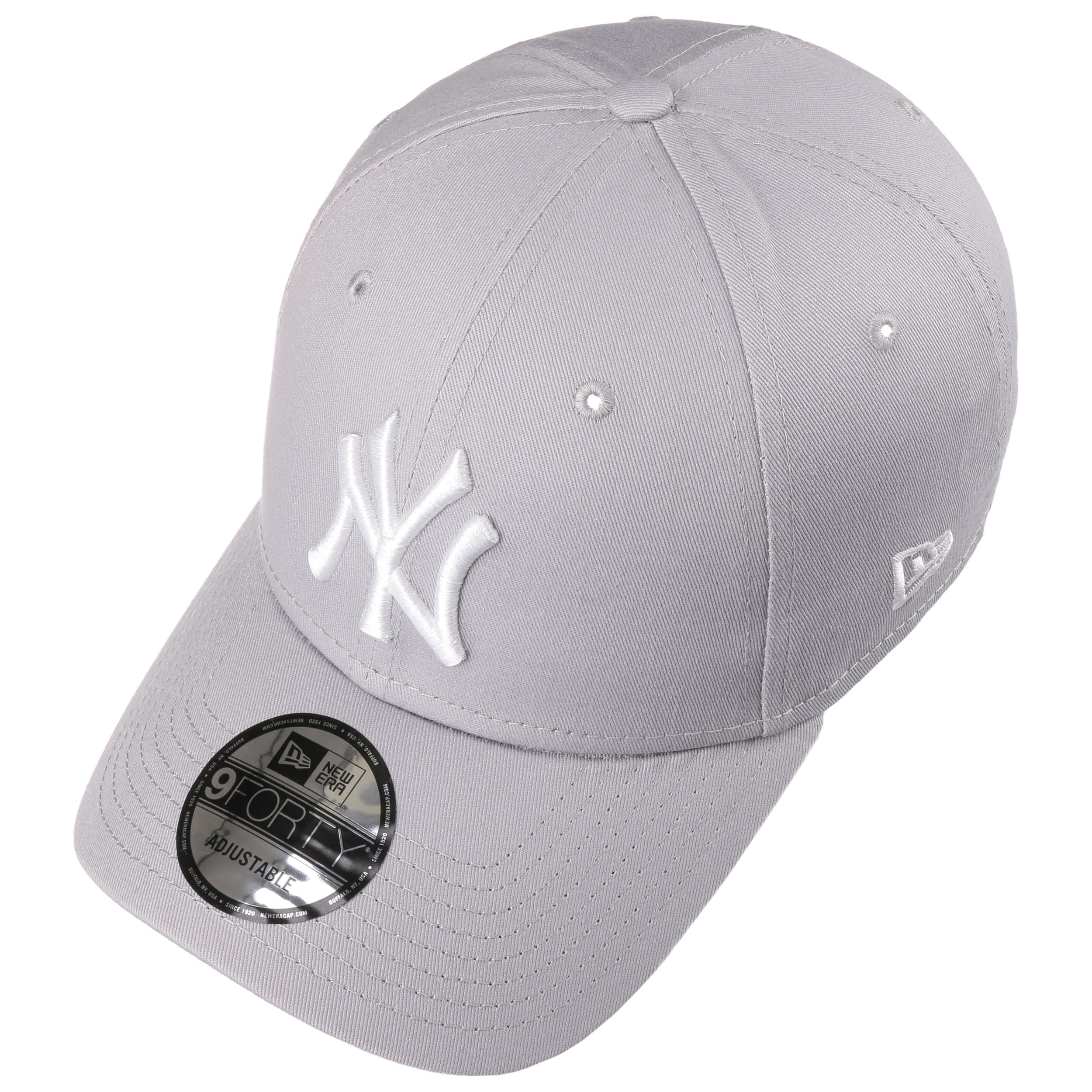 79645fec26ed ... 9Forty League Basic Yankees Cap by New Era - light grey 1 ...
