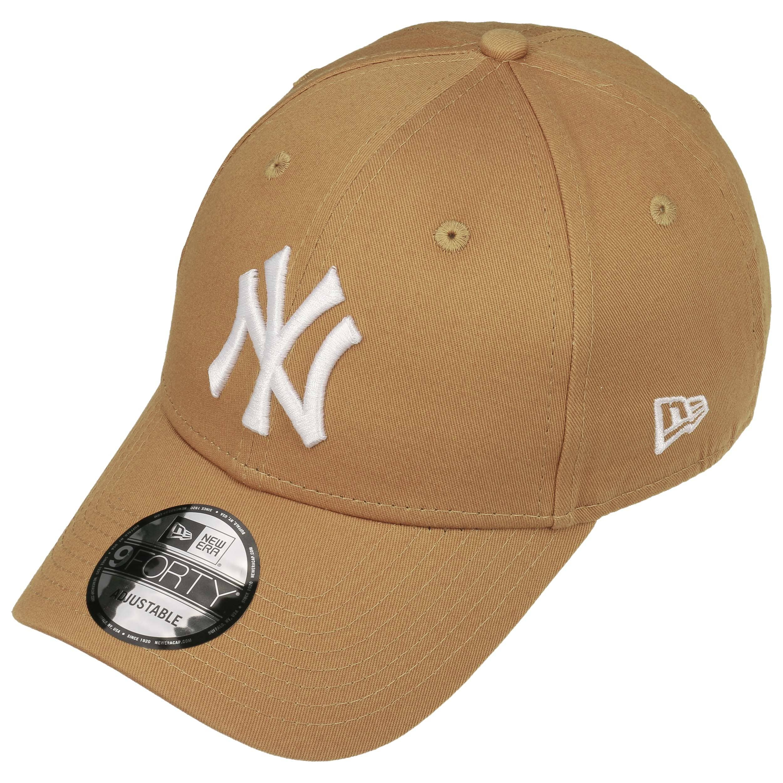 ... 9Forty League Essential NY Cap by New Era - light brown 1 ... 2c4a5faef0c
