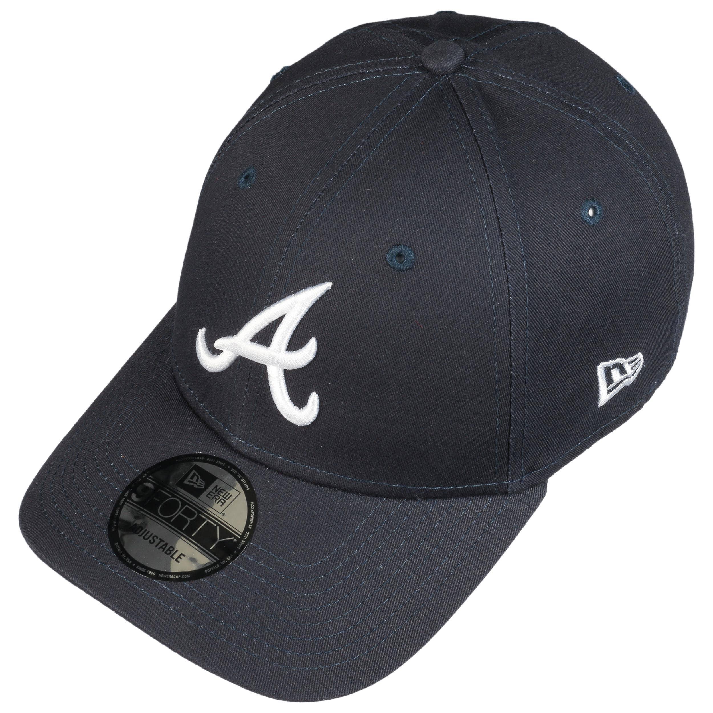 9Forty MLB Ess Braves Cap by New Era - navy 1 ... 0cecb8653d7