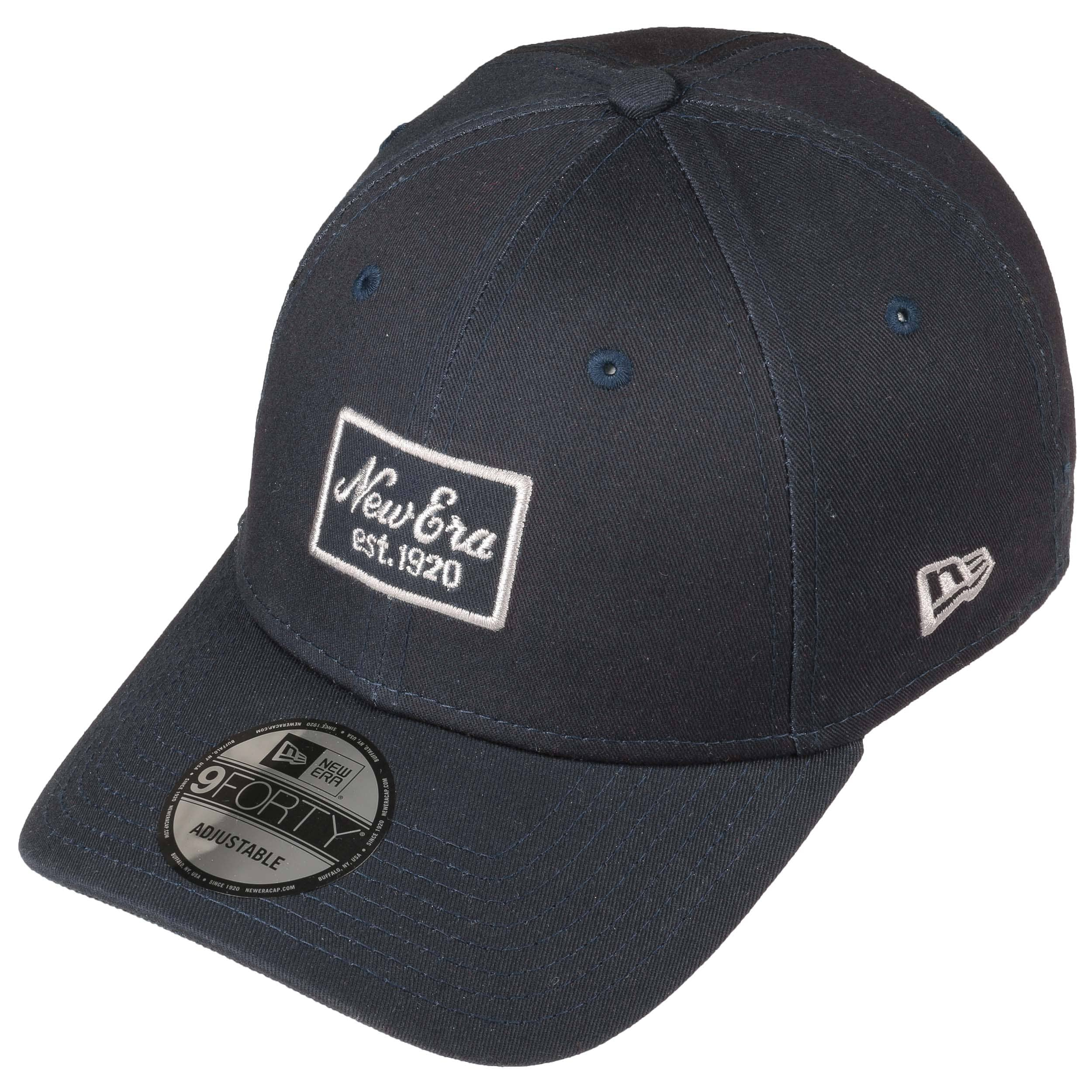 26005819067e5 9Forty Script Patch Cap by New Era - navy 1 ...