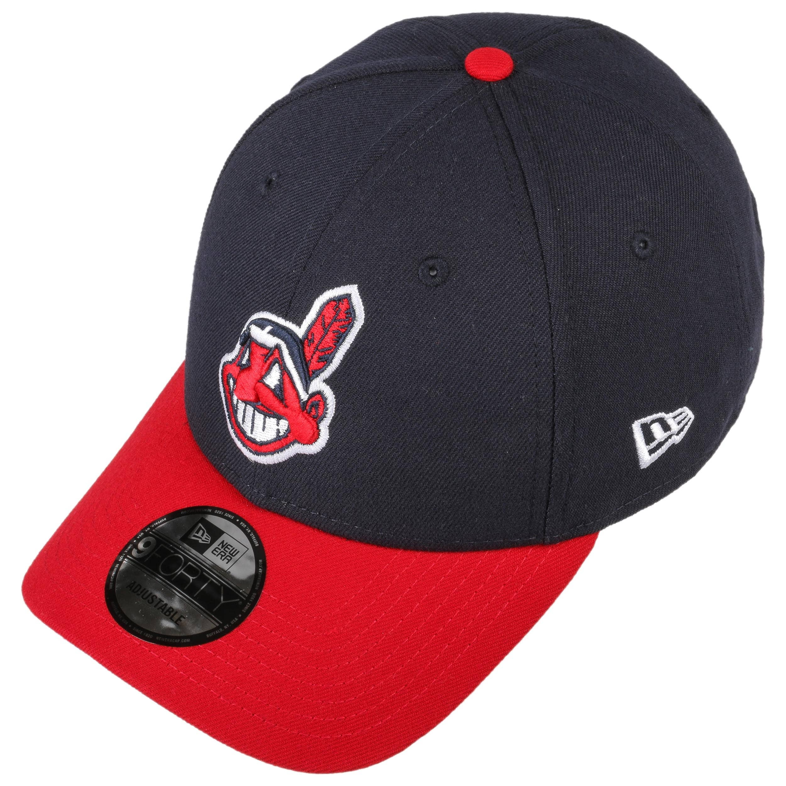 1006b1ea4d9 9Forty The League Indians Cap by New Era - navy 1 ...