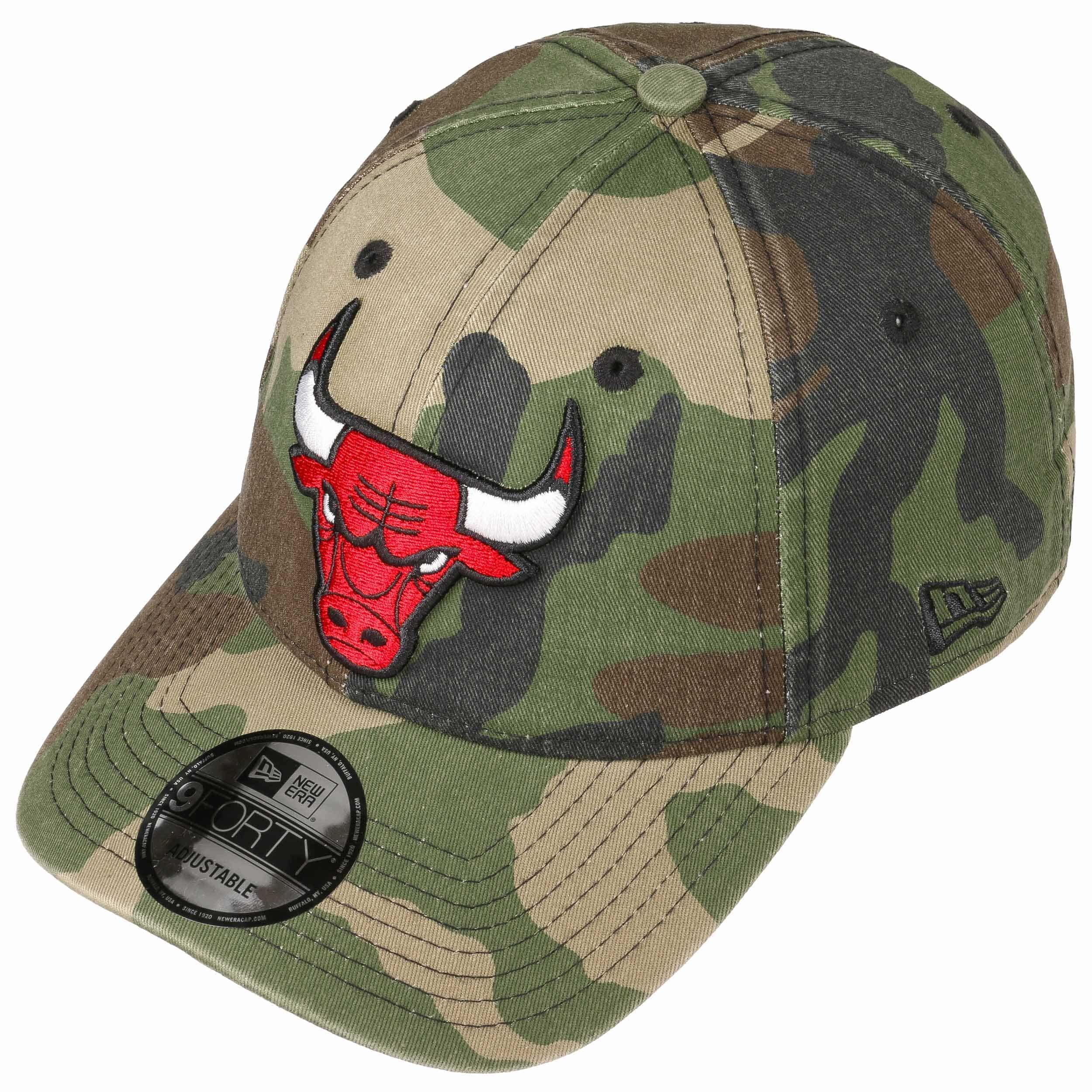 9Forty Wash Camo Bulls Cap by New Era - camouflage 1 ... 0eda89cf378