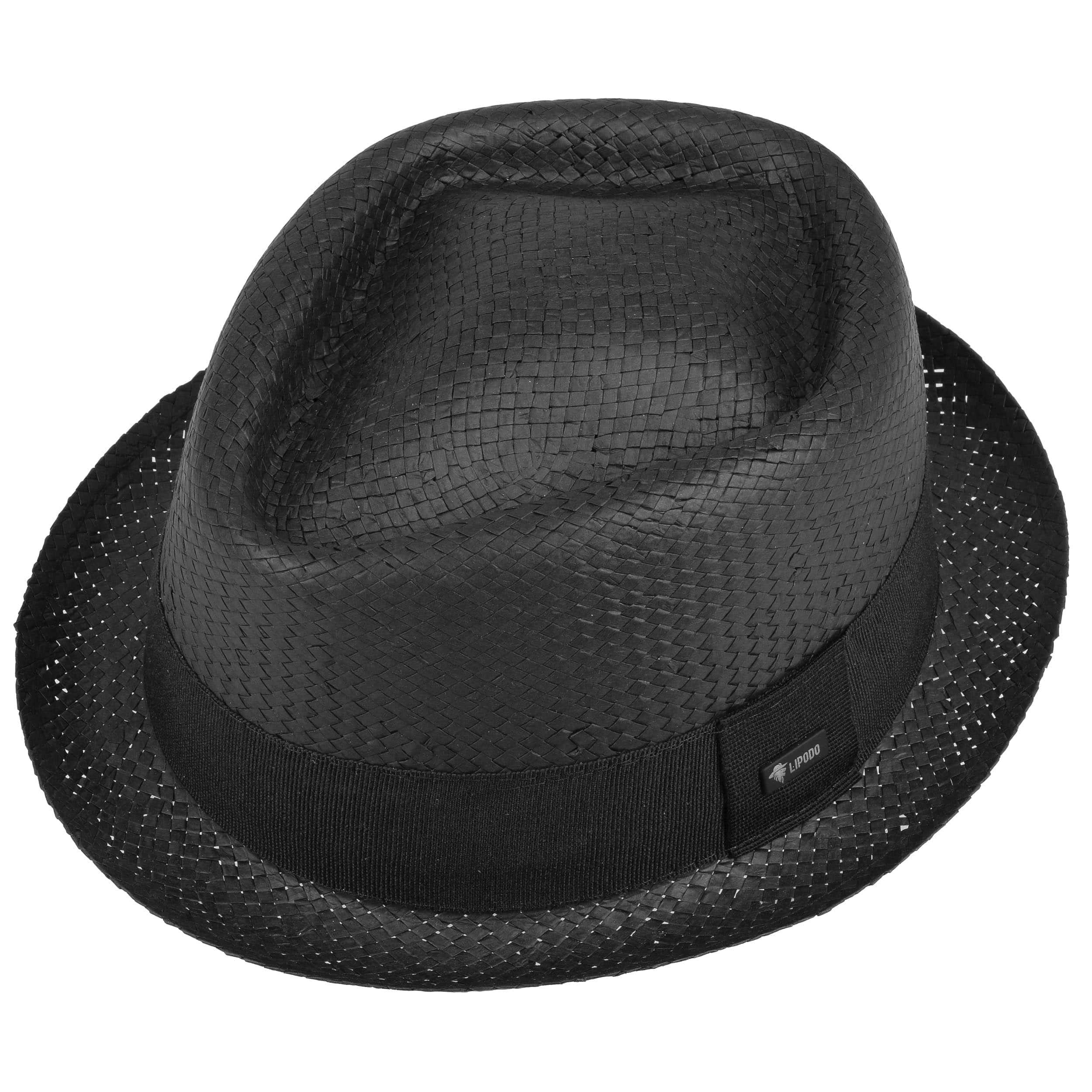 b112e60df16 Acapulco Black Pork Pie Straw Hat by Lipodo - black 1 ...