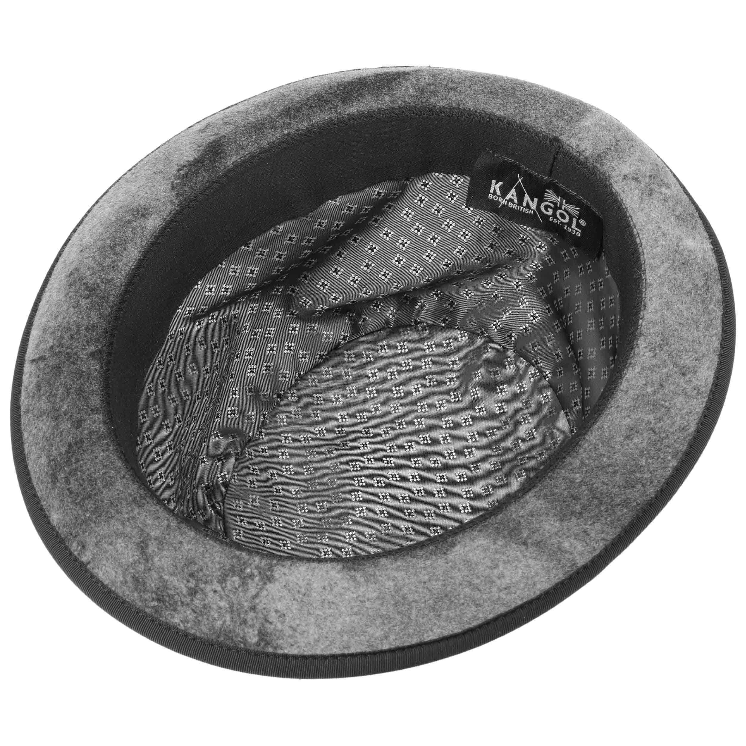... Aged Bowler Wool Felt Hat by Kangol - grey 3 ... 6c330834d341