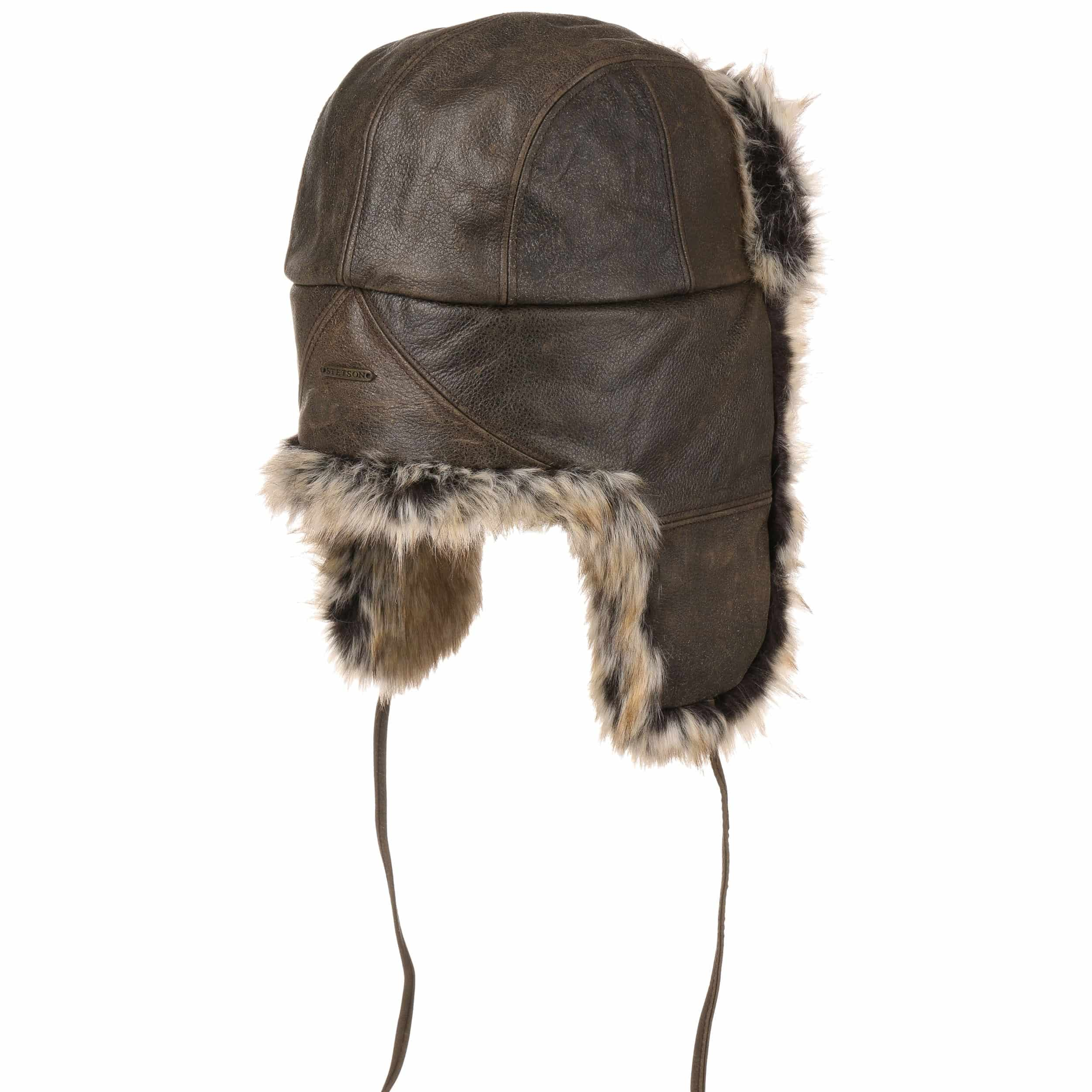 ... Alaska Cowhide Aviator Hat by Stetson - brown 3 ... 599e5d5c5fdd