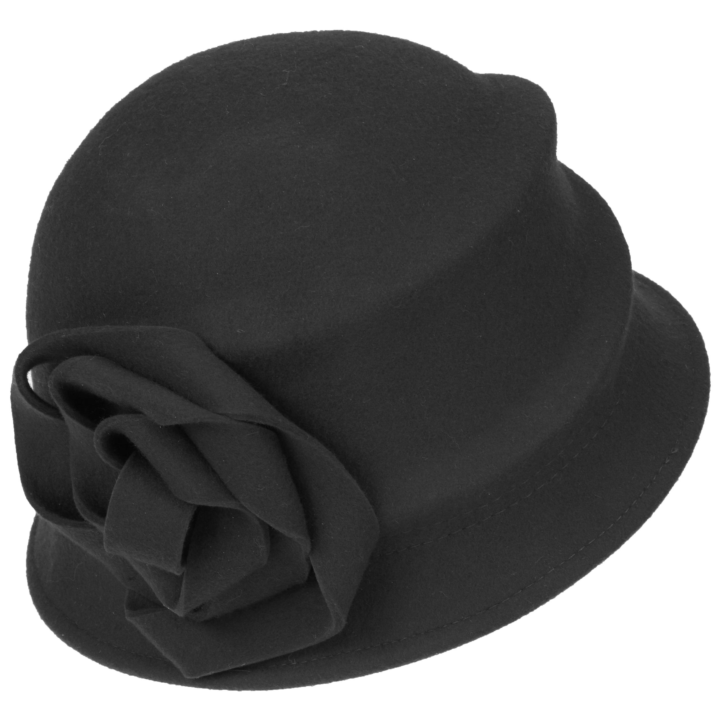 b3838a6833eaf ... Alexandrite Wool Felt Cloche Hat by Betmar - black 1 ...