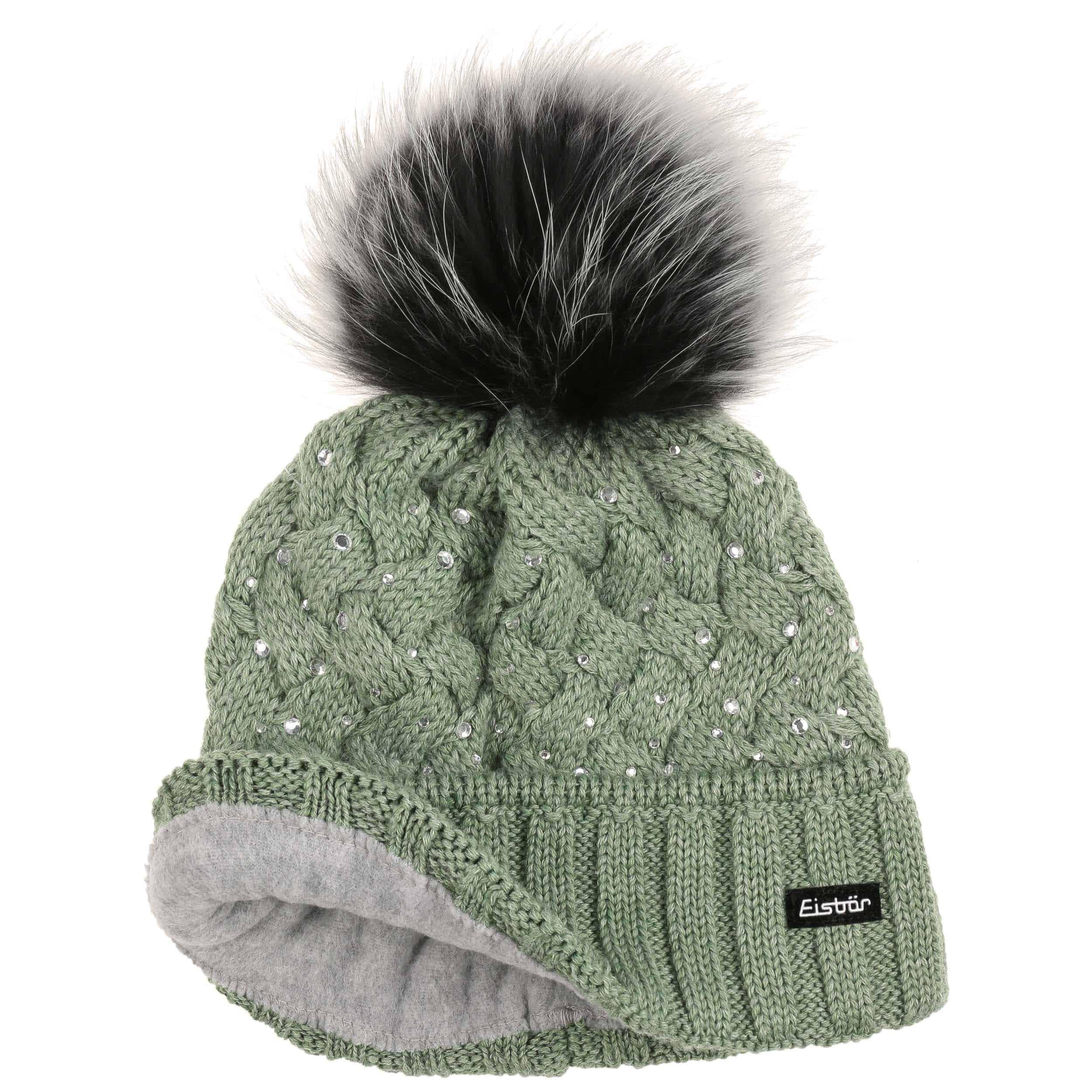 ... Alice Luxury Pompom Hat by Eisbär - green 1 ... afe028a9424
