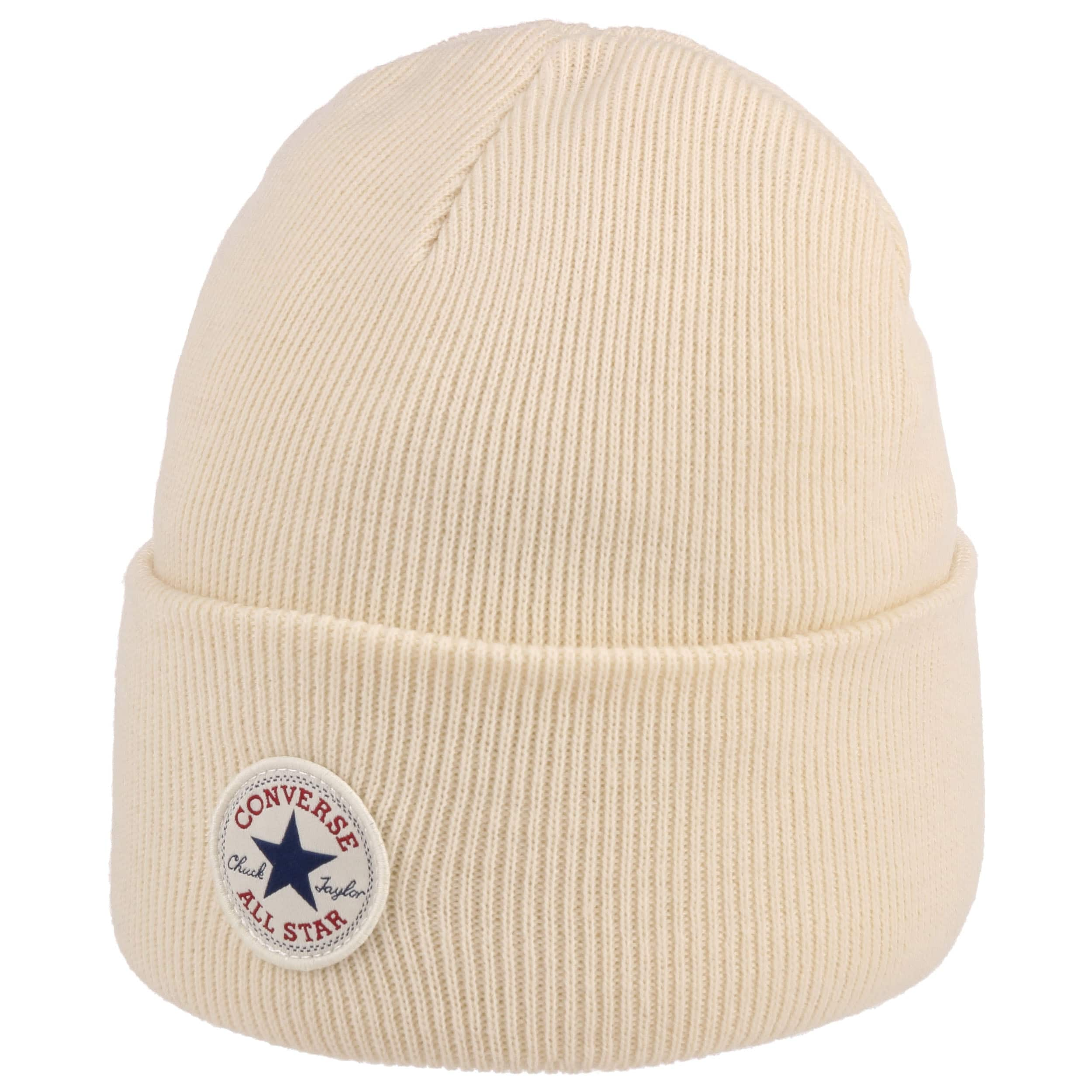 ... All Star Beanie with Cuff by Converse - cream white 3 ... 20c9bc9e0e7
