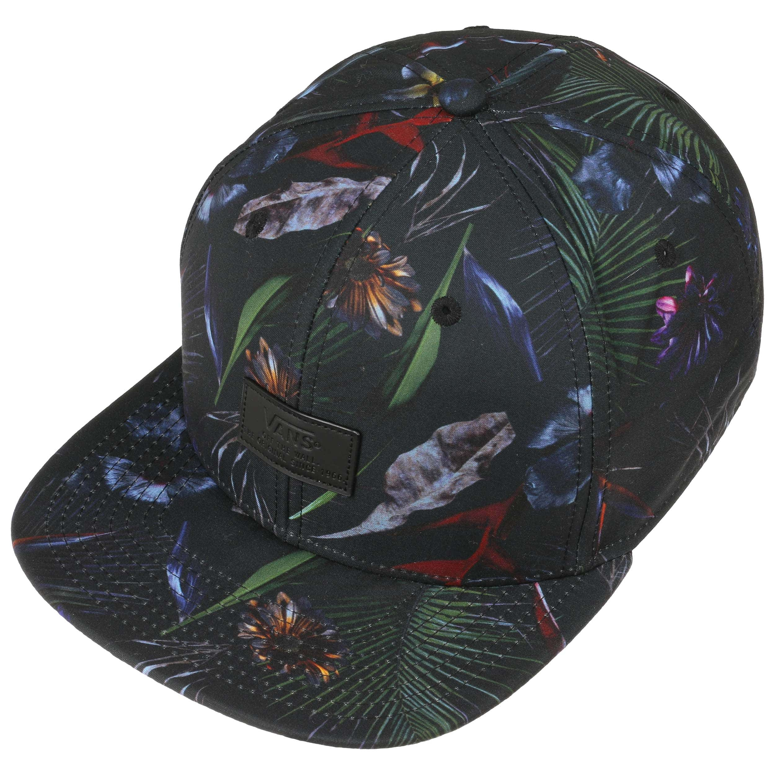 6854e08c9b92e Allover Jungle Snapback Cap by Vans - schwarz 1 ...