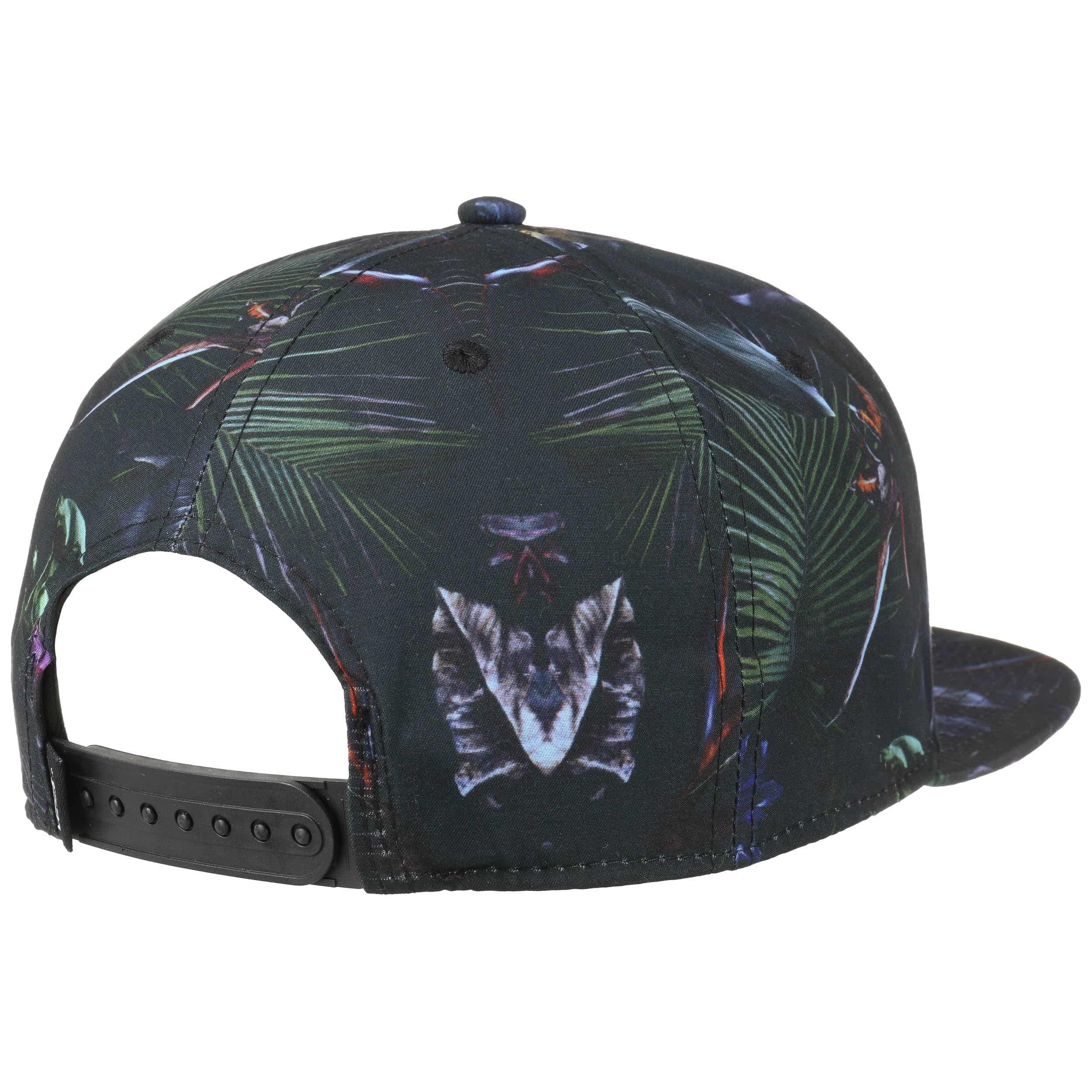 612d749cfba37 ... Allover Jungle Snapback Cap by Vans - schwarz 3 ...