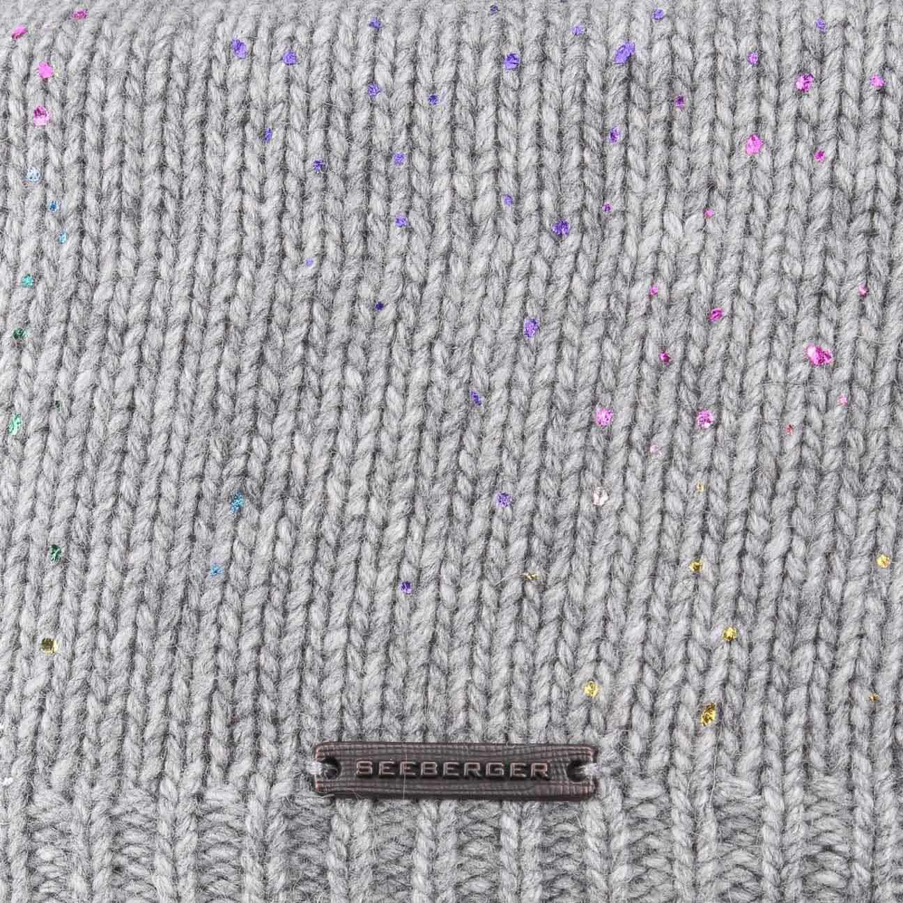 56b5c70795f ... Allover Rainbow Print Beanie by Seeberger - light grey 3 ...