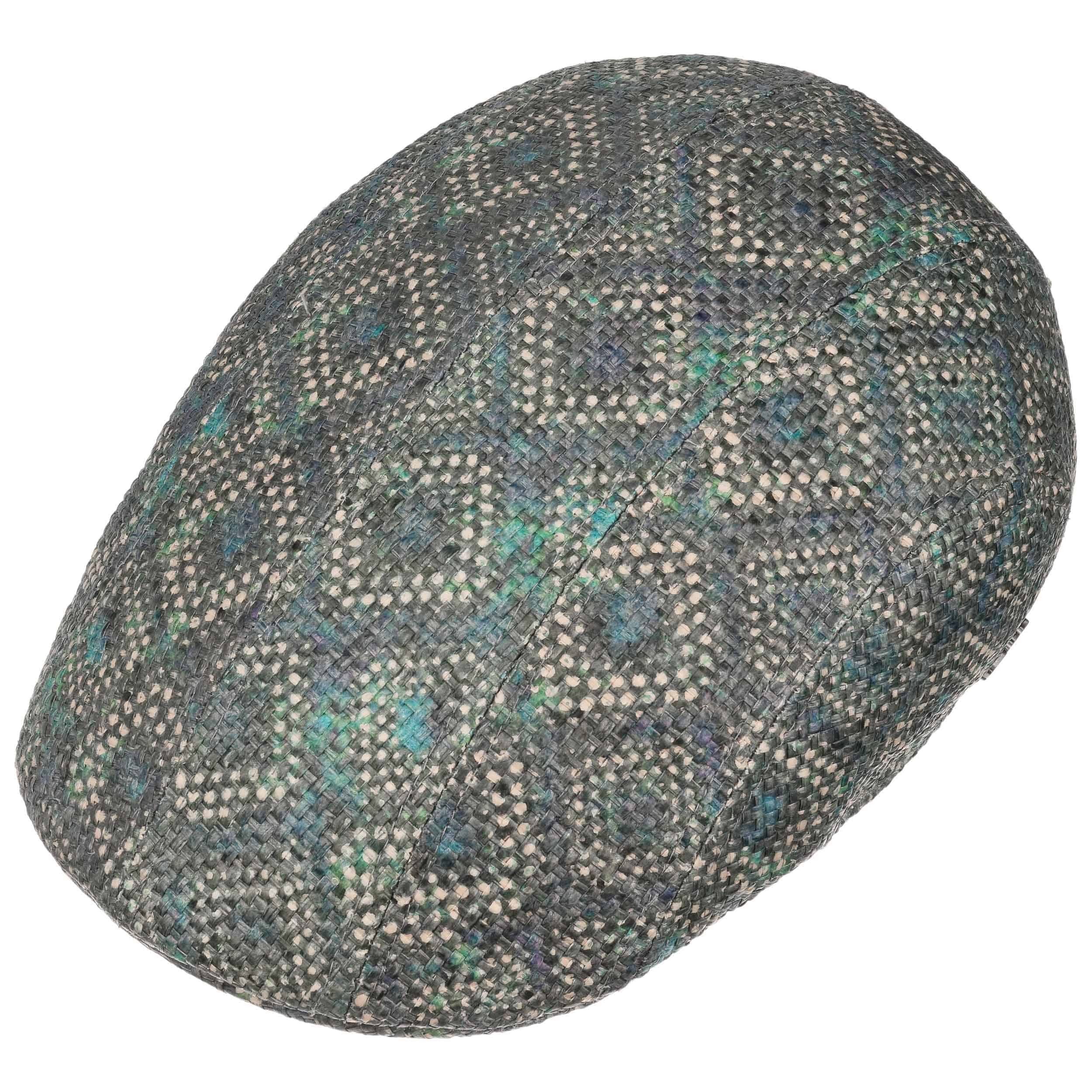 Allover Toyo Flat Cap by Stetson - blue 1 ... 1289688132f