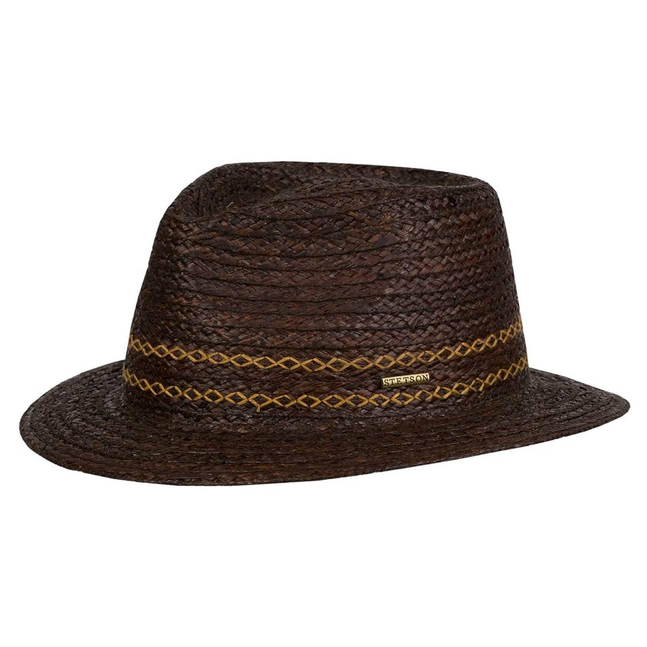 3aebddbea7484 Andover Raffia Straw Hat by Stetson - brown 1 ...