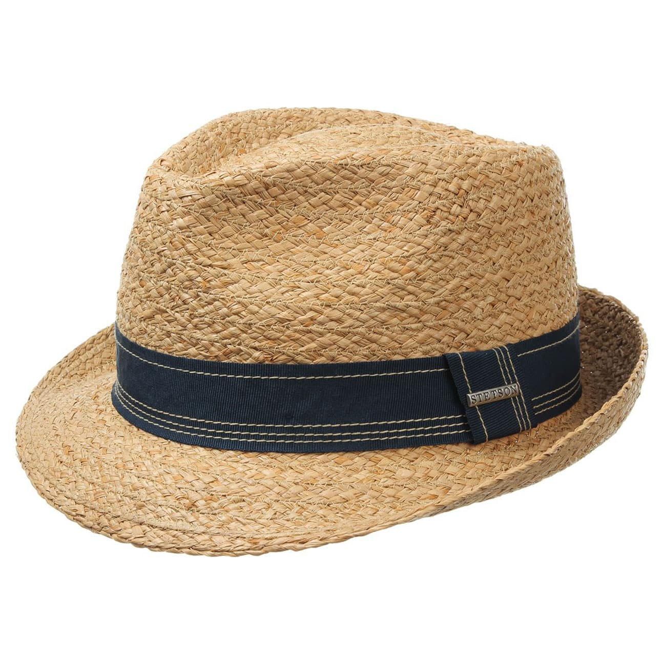 fa387d2ed7bcd ... Angleton Raffia Straw Trilby by Stetson - nature 1 ...
