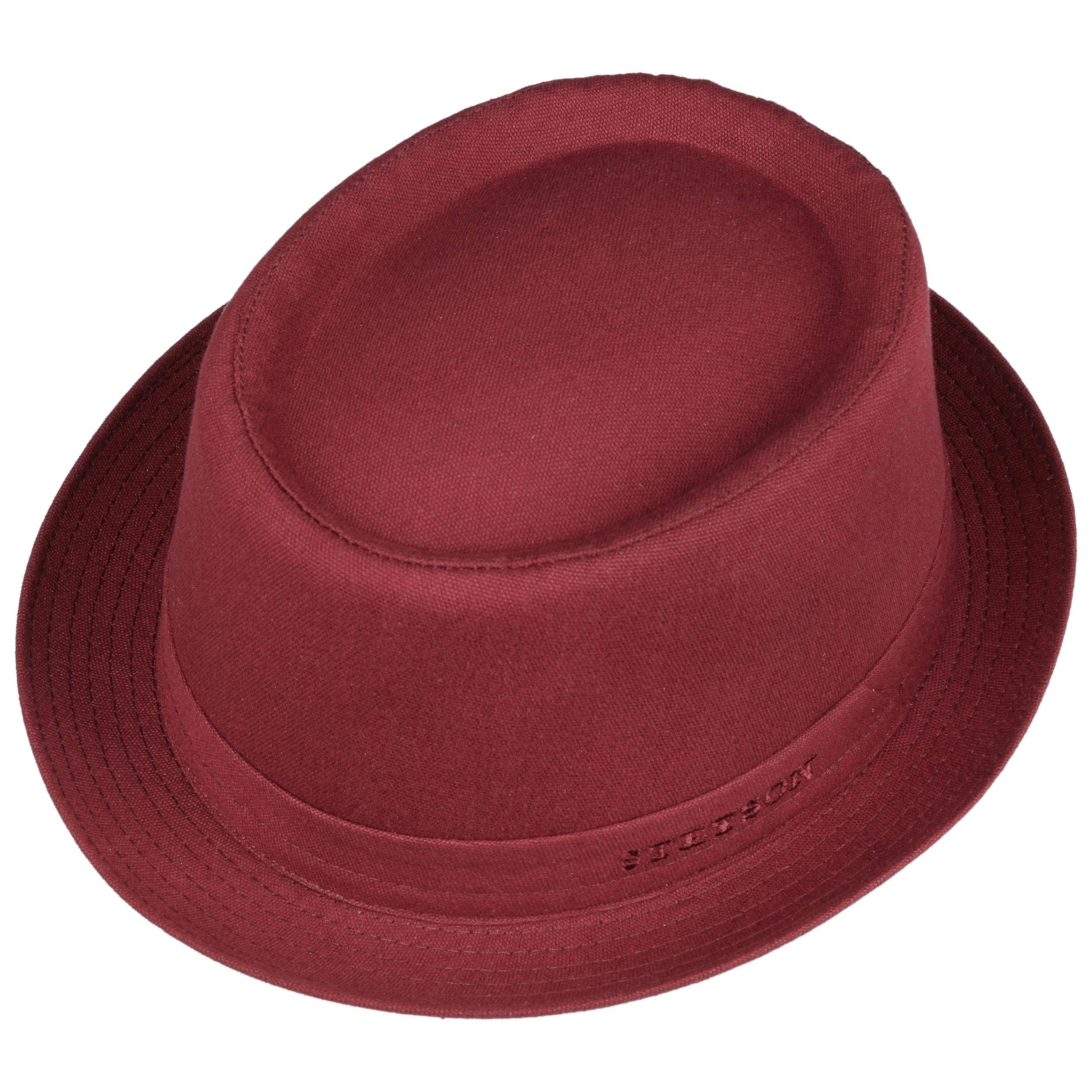 4d55276b800ad Athens Cotton Pork Pie Hat by Stetson - dark red 1 ...