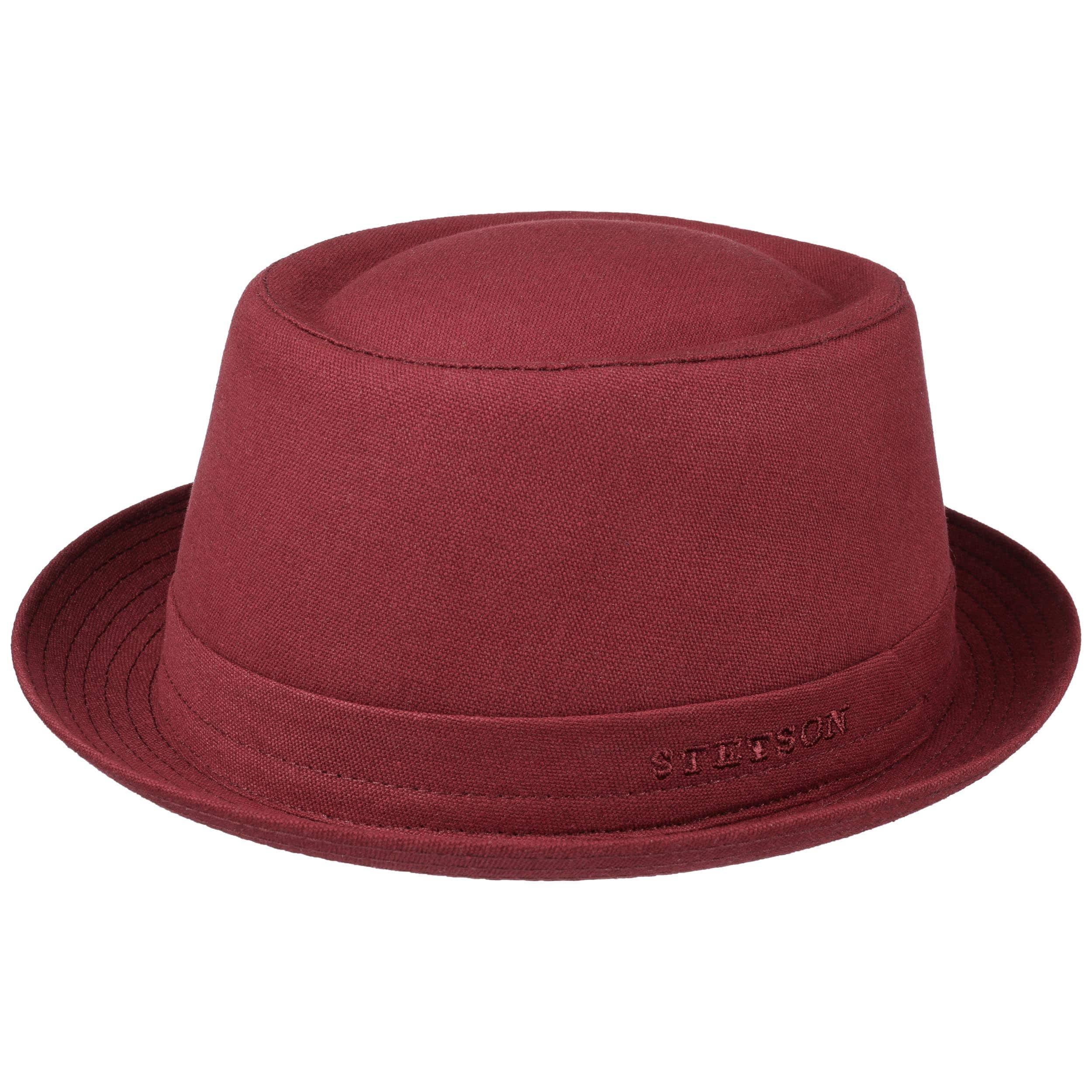 ... Athens Cotton Pork Pie Hat by Stetson - dark red 4 ... 24220c8da0e