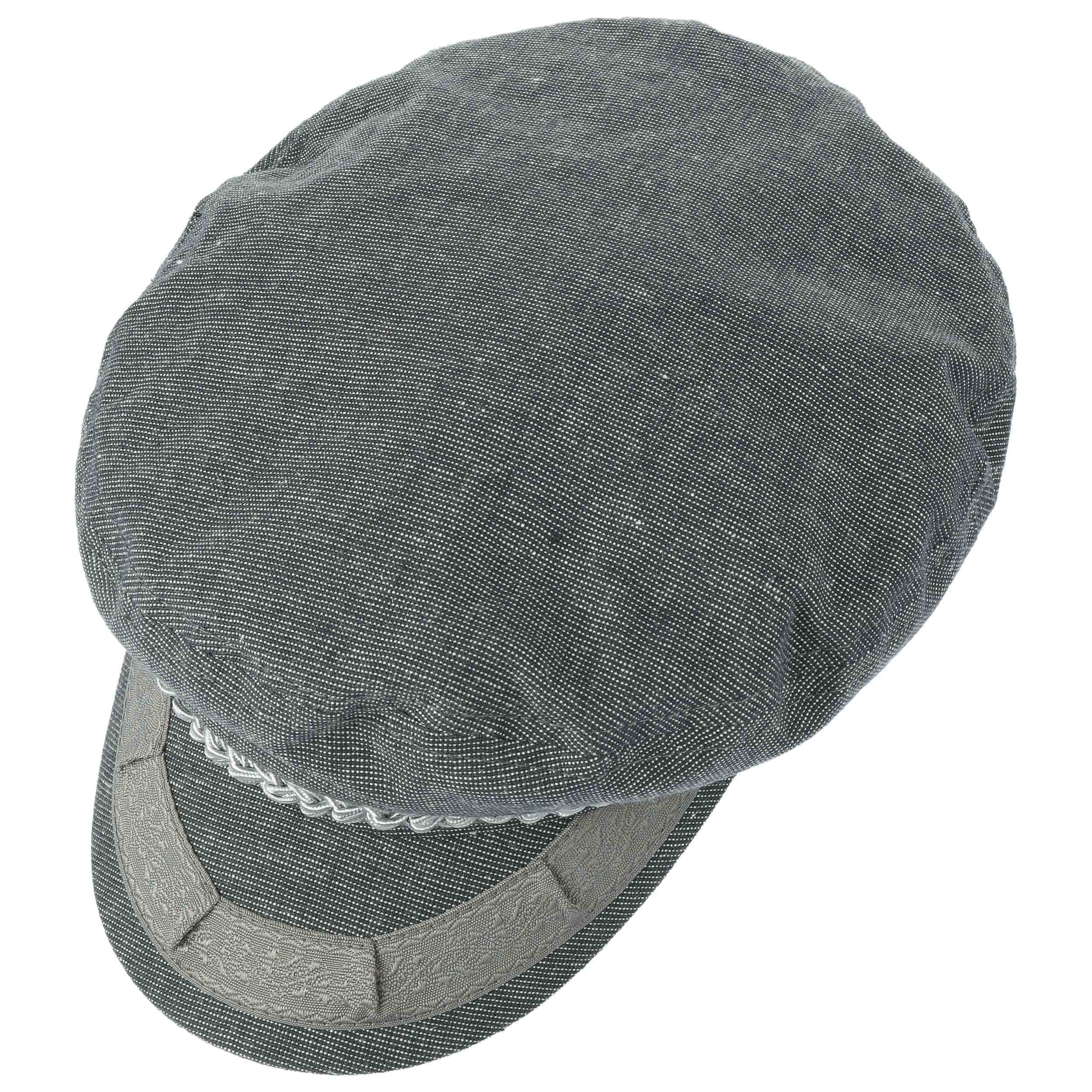 7a606052895 Athens Linen Fisherman´s Cap by Brixton - grey-blue 1 ...