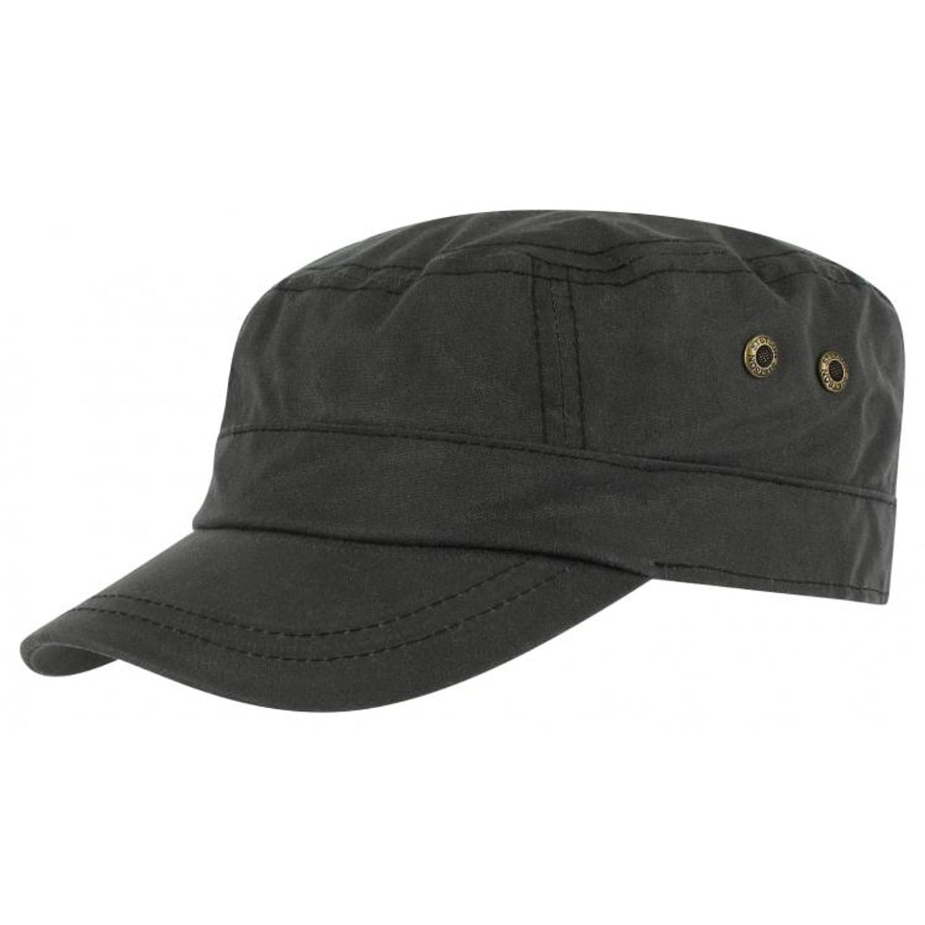 09d9c556 ... Austin Waxed Cotton Army Cap by Stetson - black 1