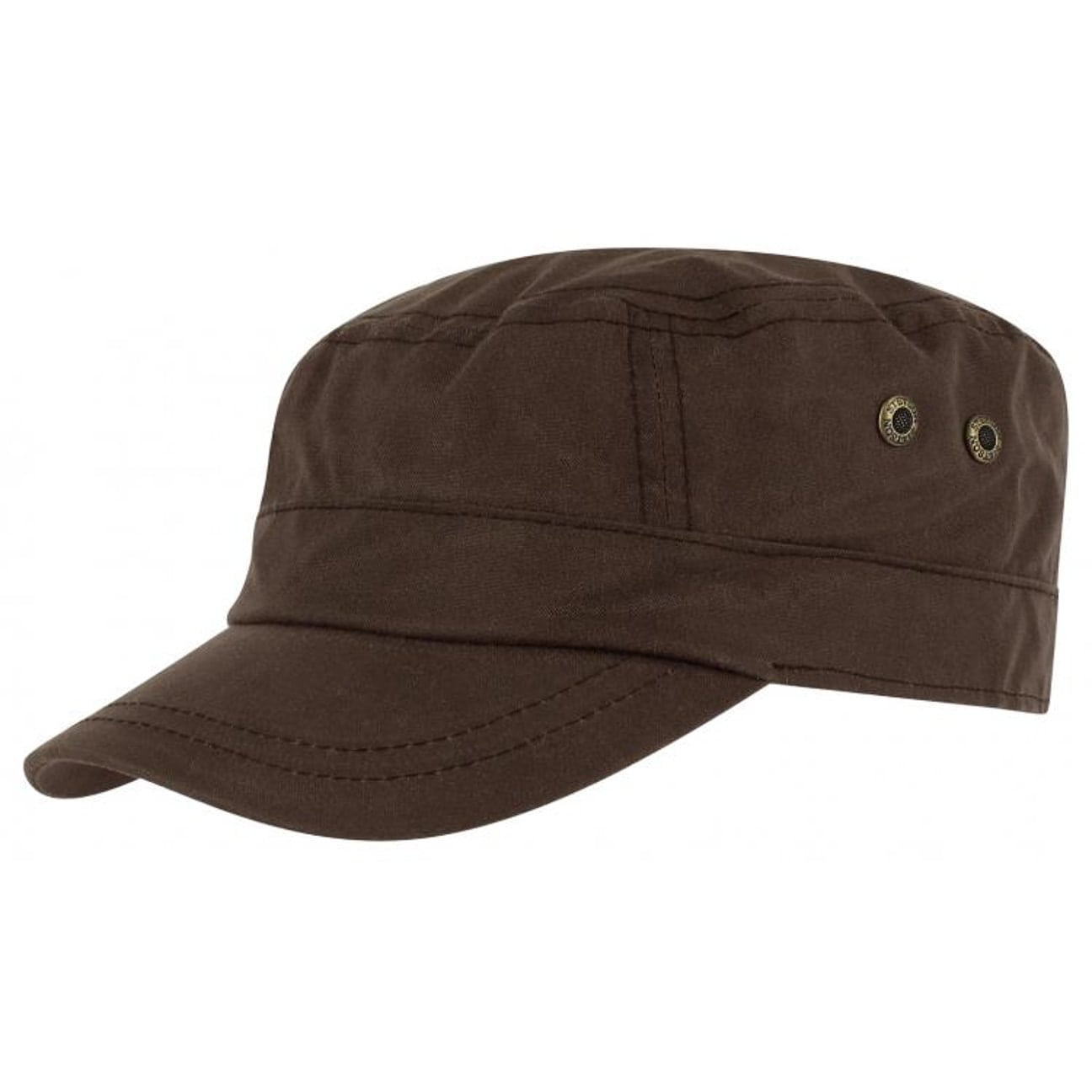 ... Austin Waxed Cotton Army Cap by Stetson - brown 1 ... 031dd3258fb