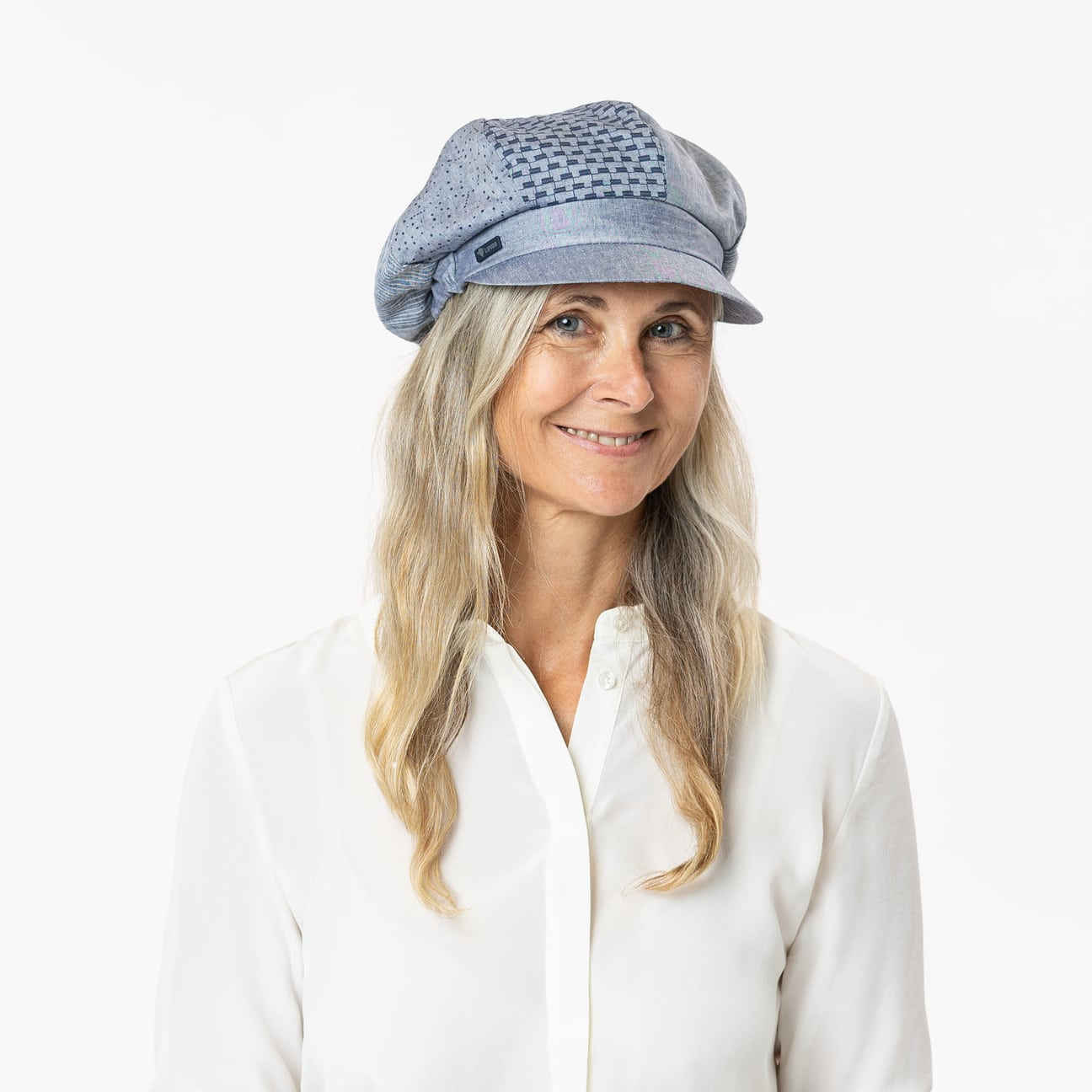 Lipodo Avella Cotton Newsboy Cap Women Made in Italy