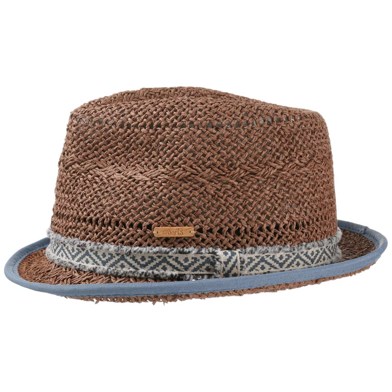 Trilby hats are worn differently than fedora hats. A trilby is worn back on the head much farther. It sits at an angle pointing up over the backside of the head. A fedora is worn straight or flat across the brown and back of head perpendicular to the neck.