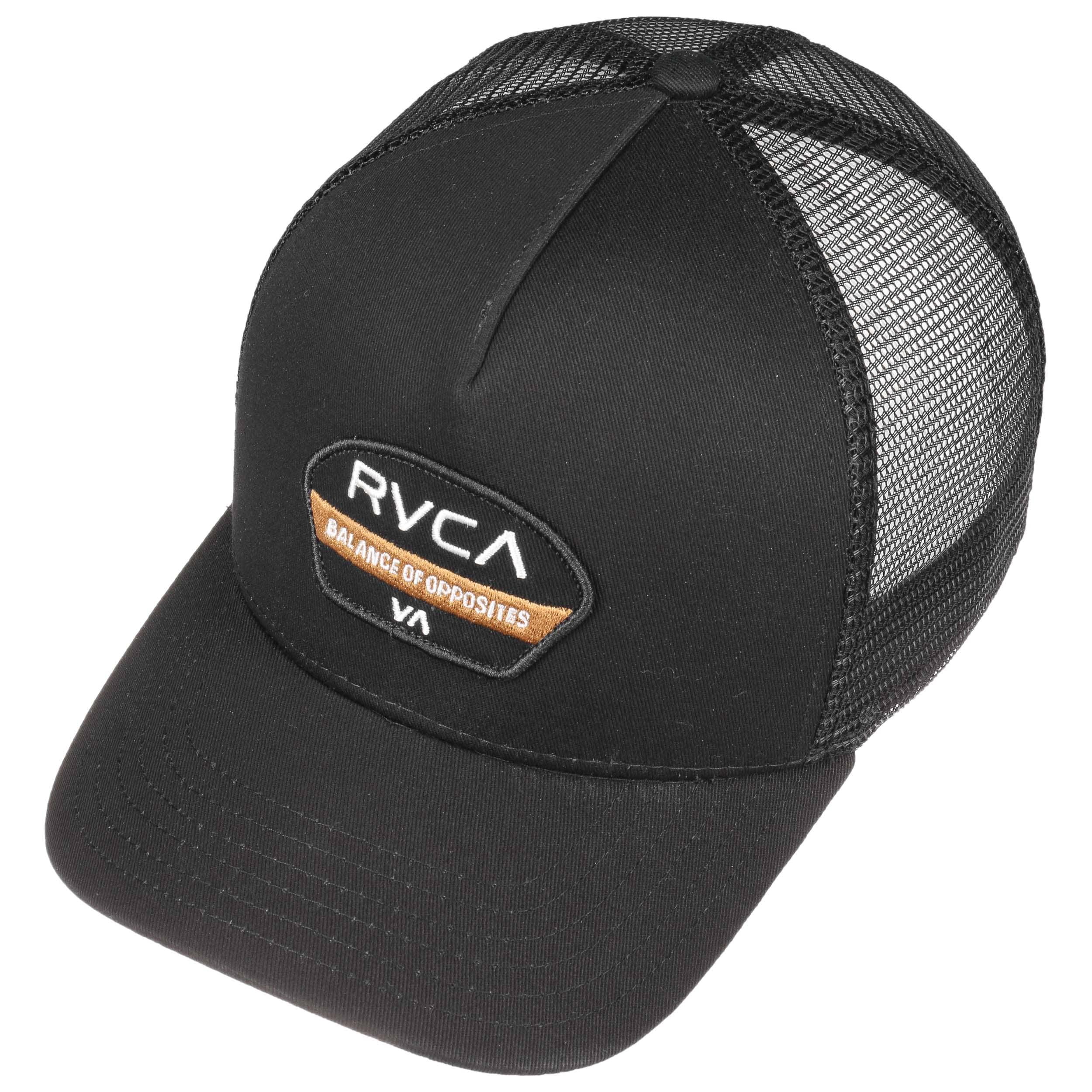 7b66602b03b42 ... real balance of opposites trucker cap by rvca black 1 f2ebd ee024 get rvca  balance patch ...