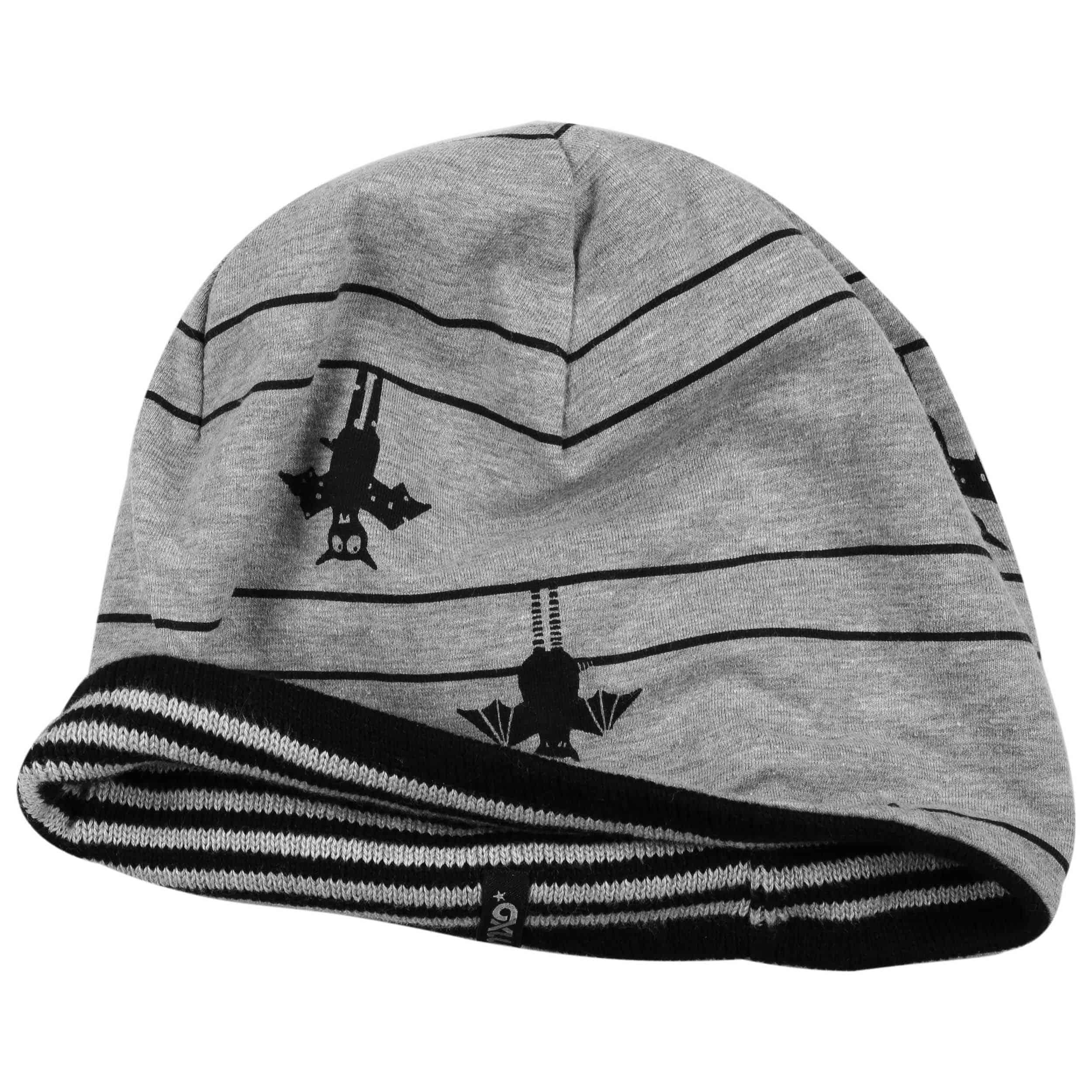 b67b15260d9 ... Bat-Stripes Kids Reversible Beanie by maximo - black-grey 2 ...