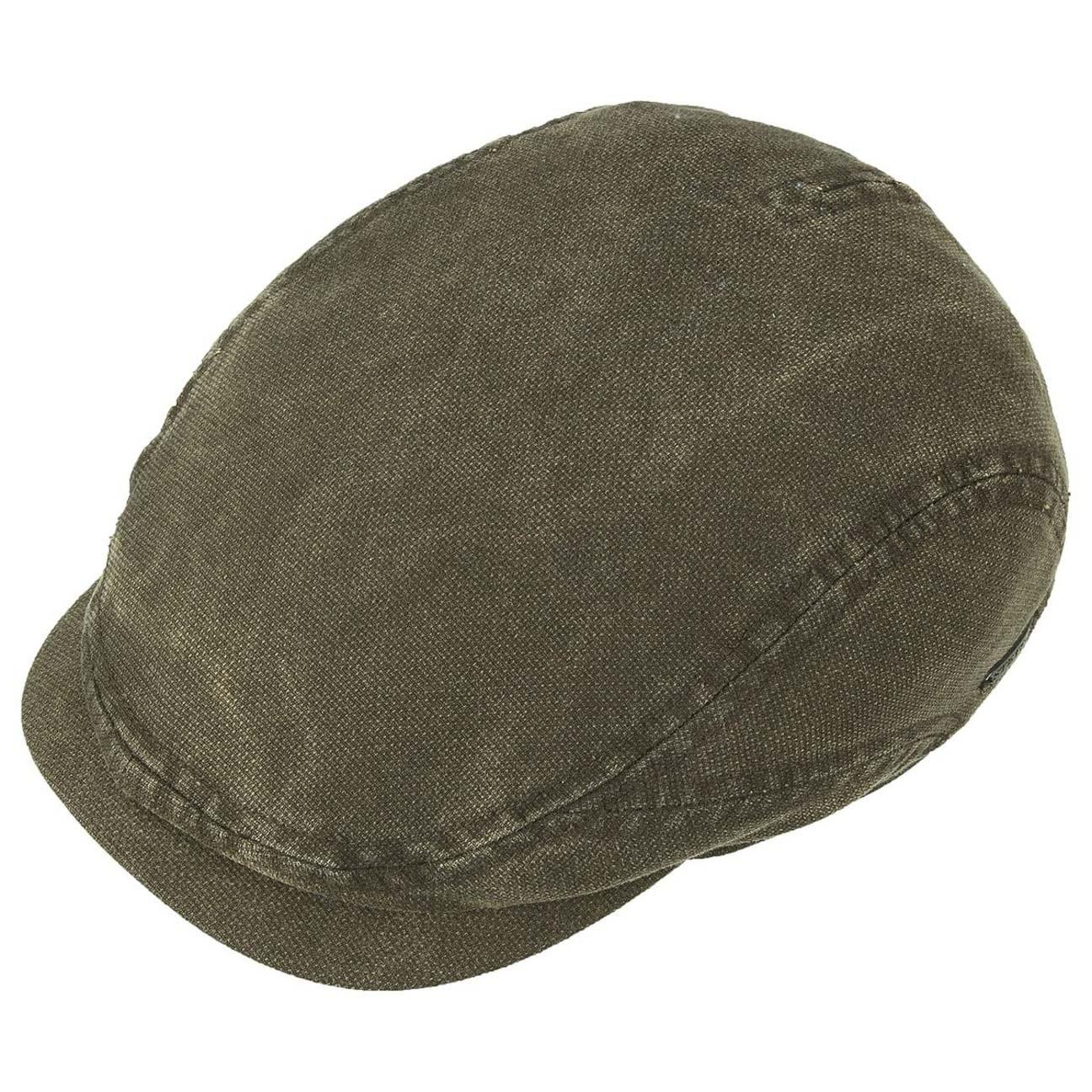 Belfast Cotton Flat Cap by Stetson - olive 2 ... c03832743a1
