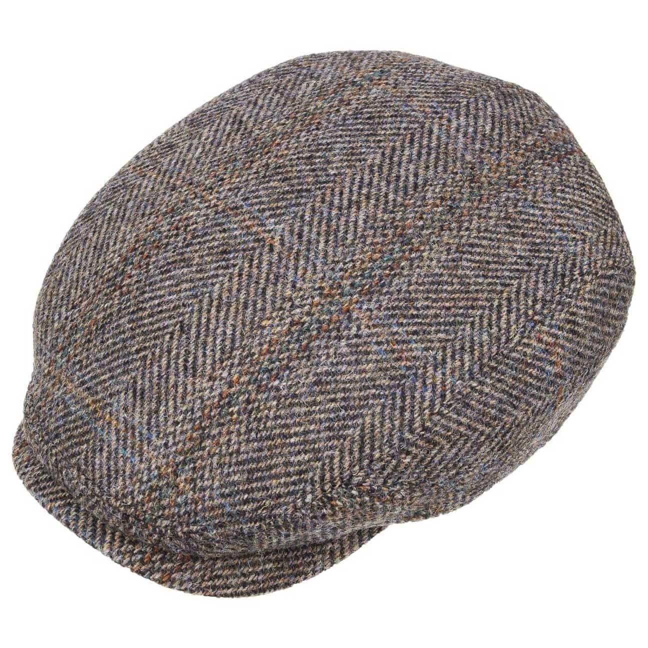 pretty cheap stable quality popular brand Belfast Harris Tweed Flat Cap by Stetson