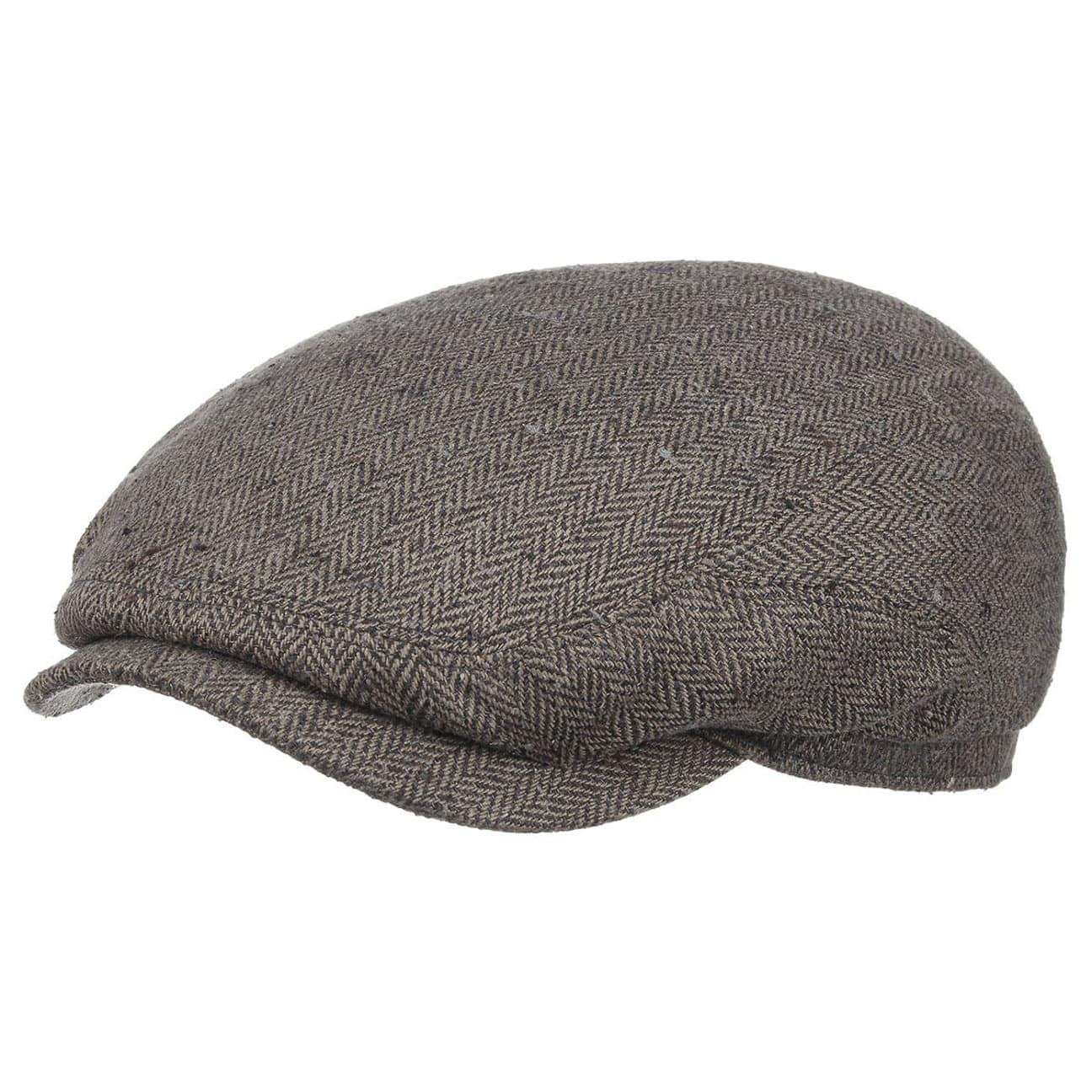 2316a8960dcc0 ... Belfast Silk Flat Cap by Stetson - grey 5 ...