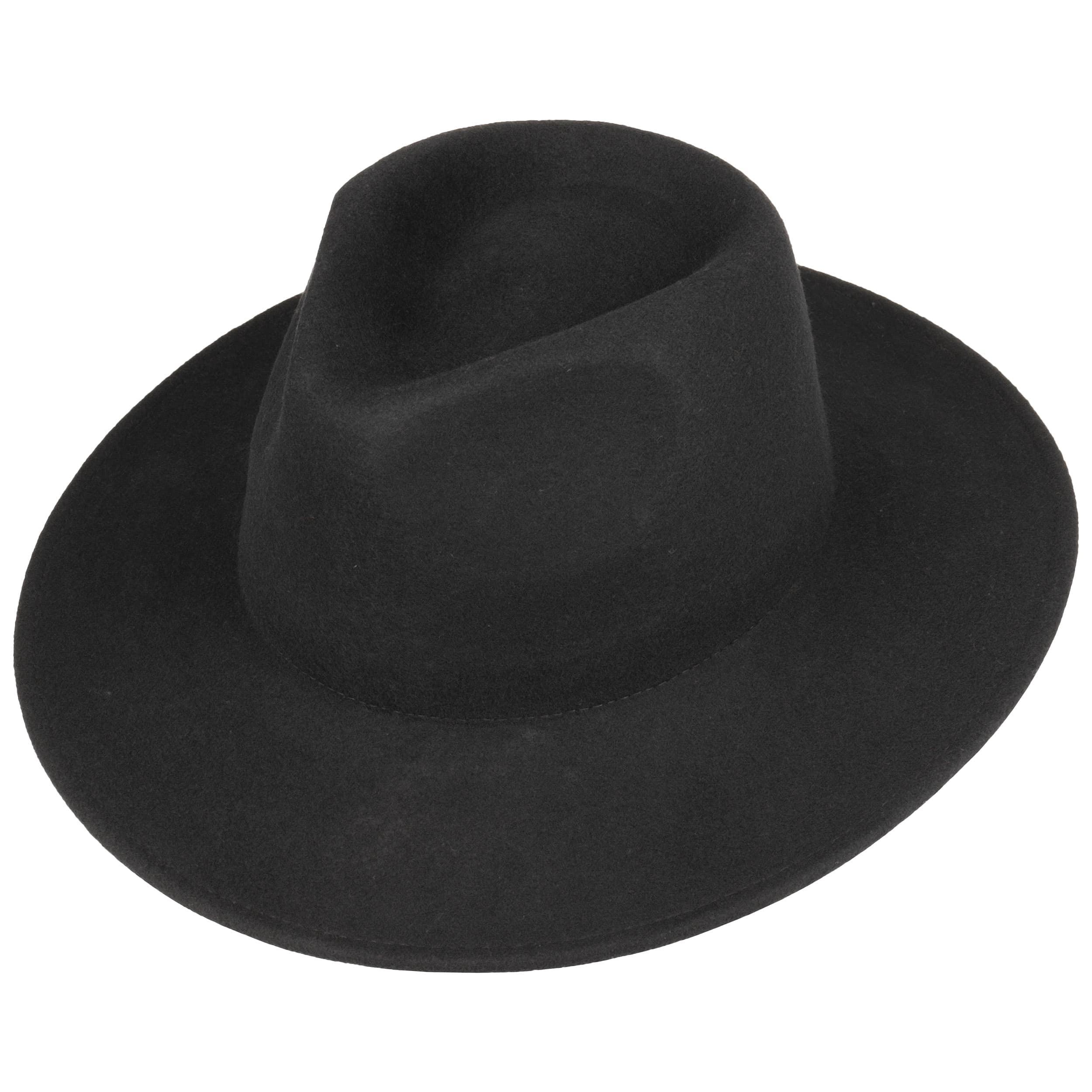 Big Brim Fedora Felt Hat by Levi´s - black 1 ... 167c9b2f385