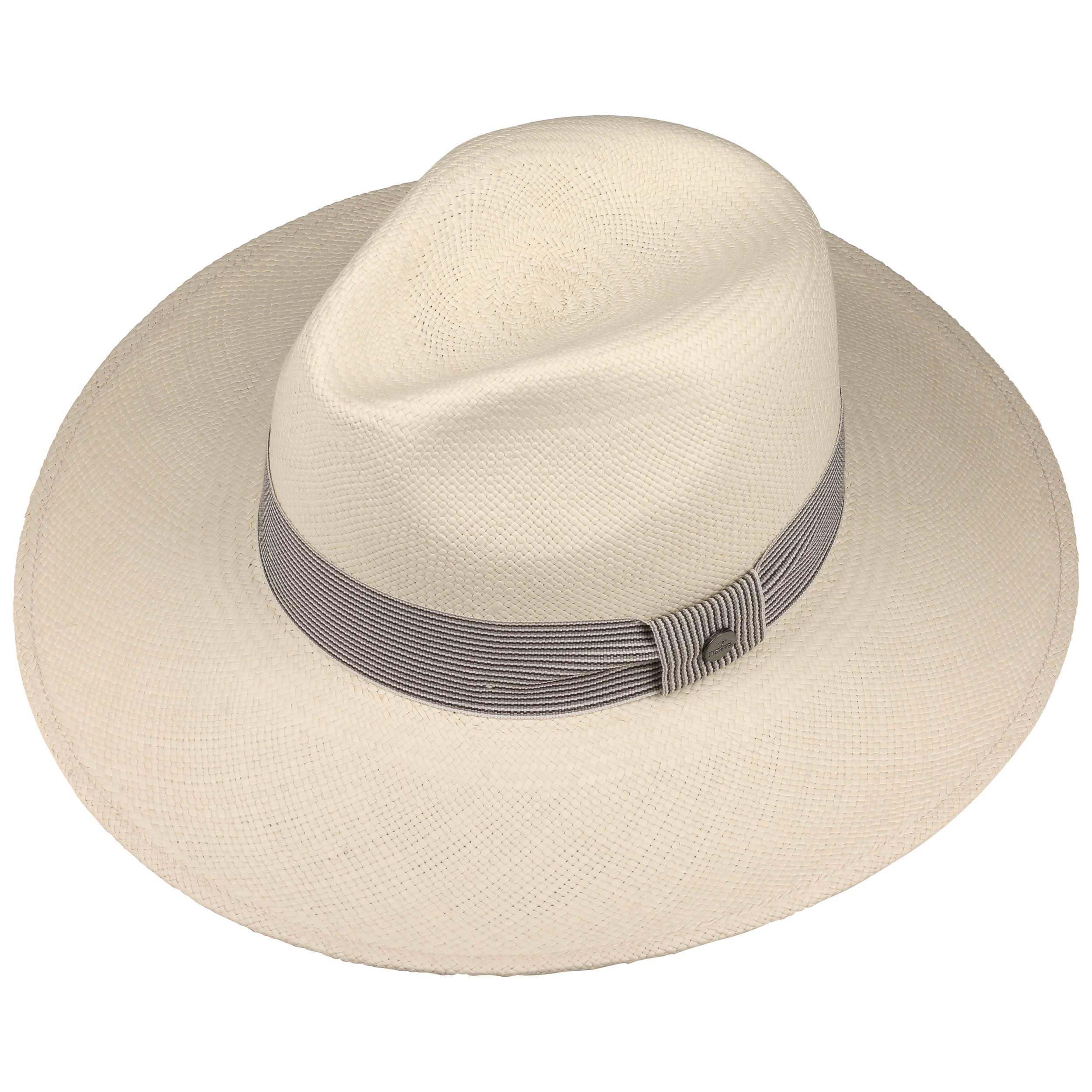 917d9ec289a Big Brim Stripes Panama Hat by Lierys - white 1 ...