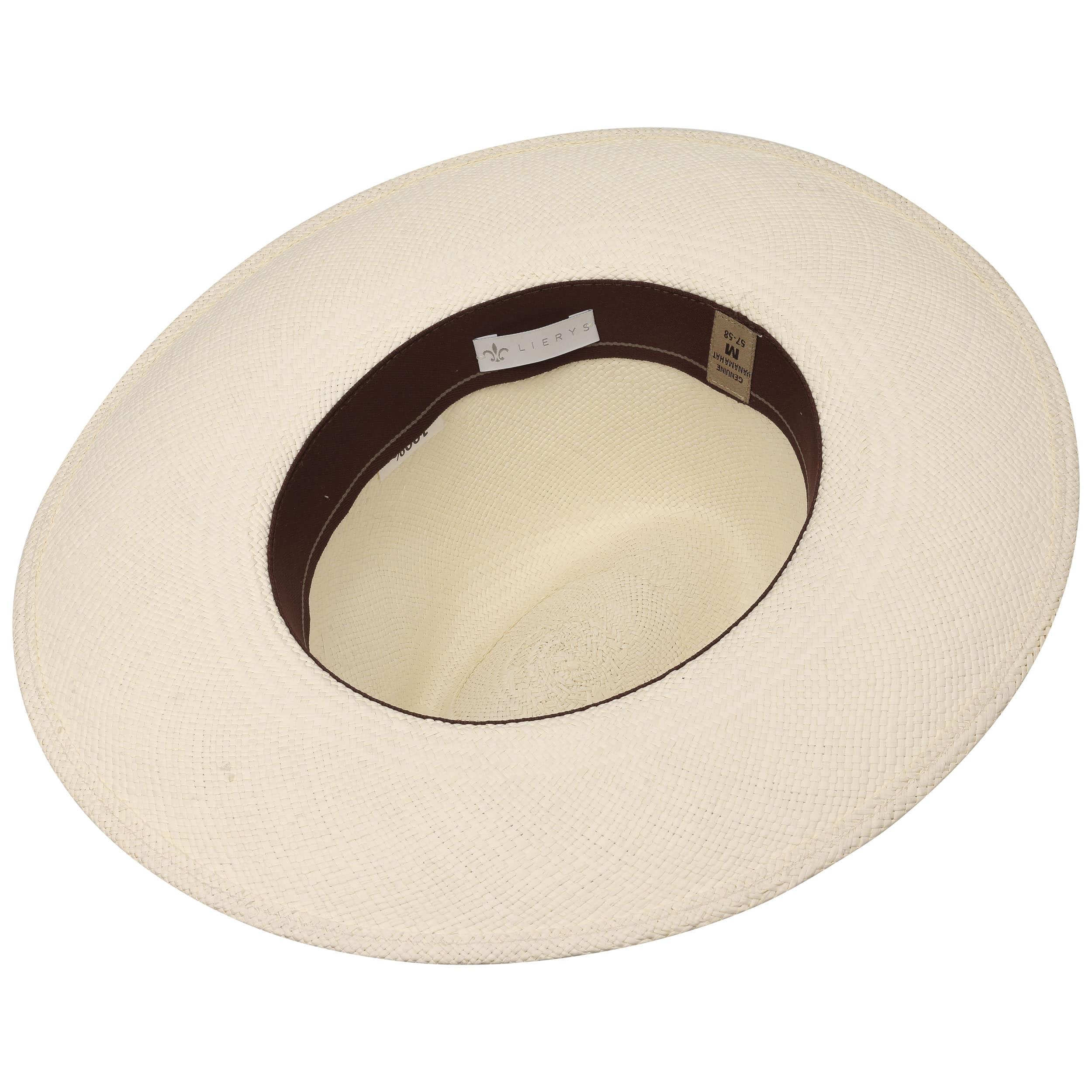 e50f426193a ... Big Brim Stripes Panama Hat by Lierys - white 2 ...