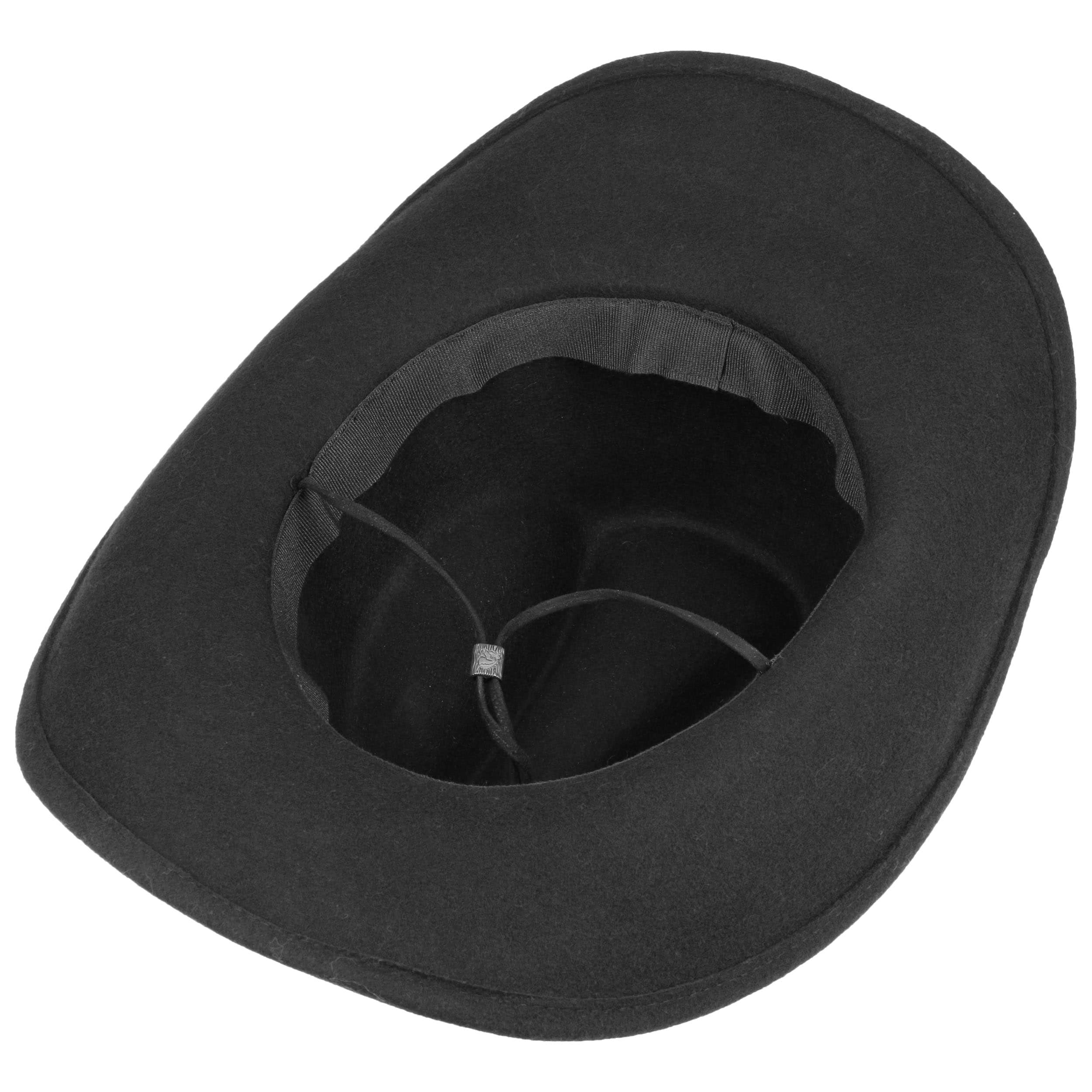 61b00396148 ... Bill Cody Western Hat with Chin Strap by Lipodo - black 2 ...