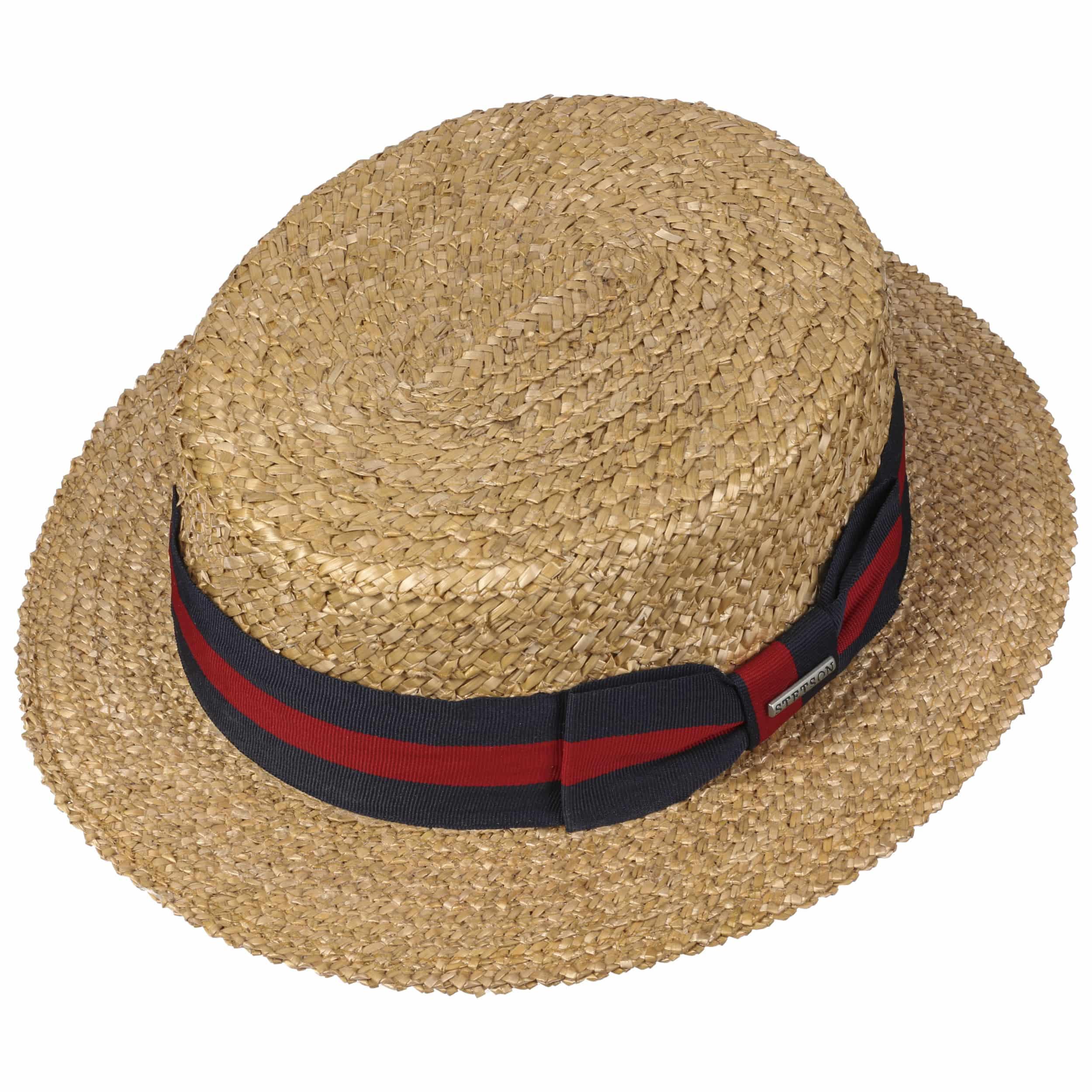 Stetson Boater Wheat Strohhut Kreissäge für Damen und Herren Weizenstroh Sommer