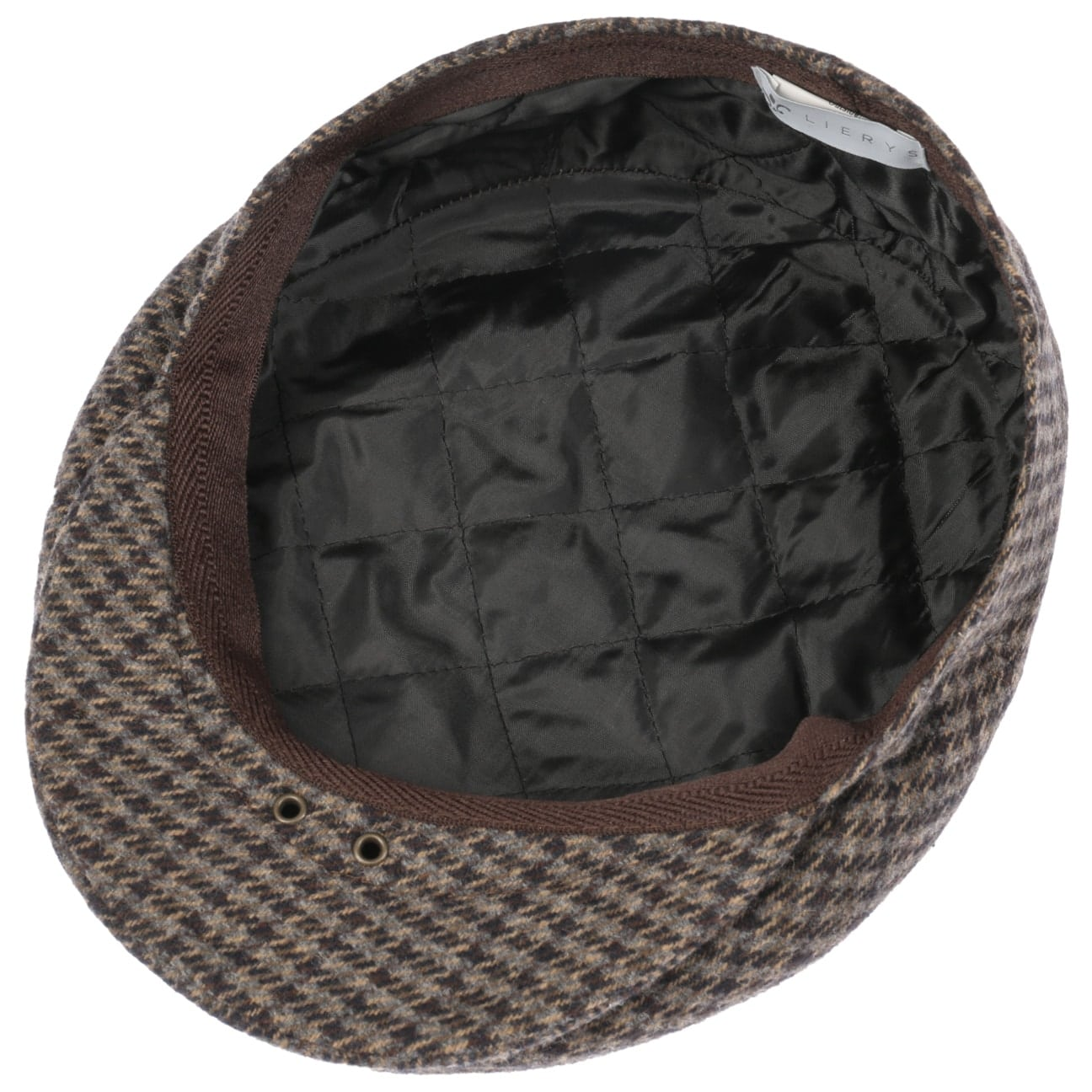 ... Britain Houndstooth Flat Cap by Lierys - brown 3 ... d14100102a5