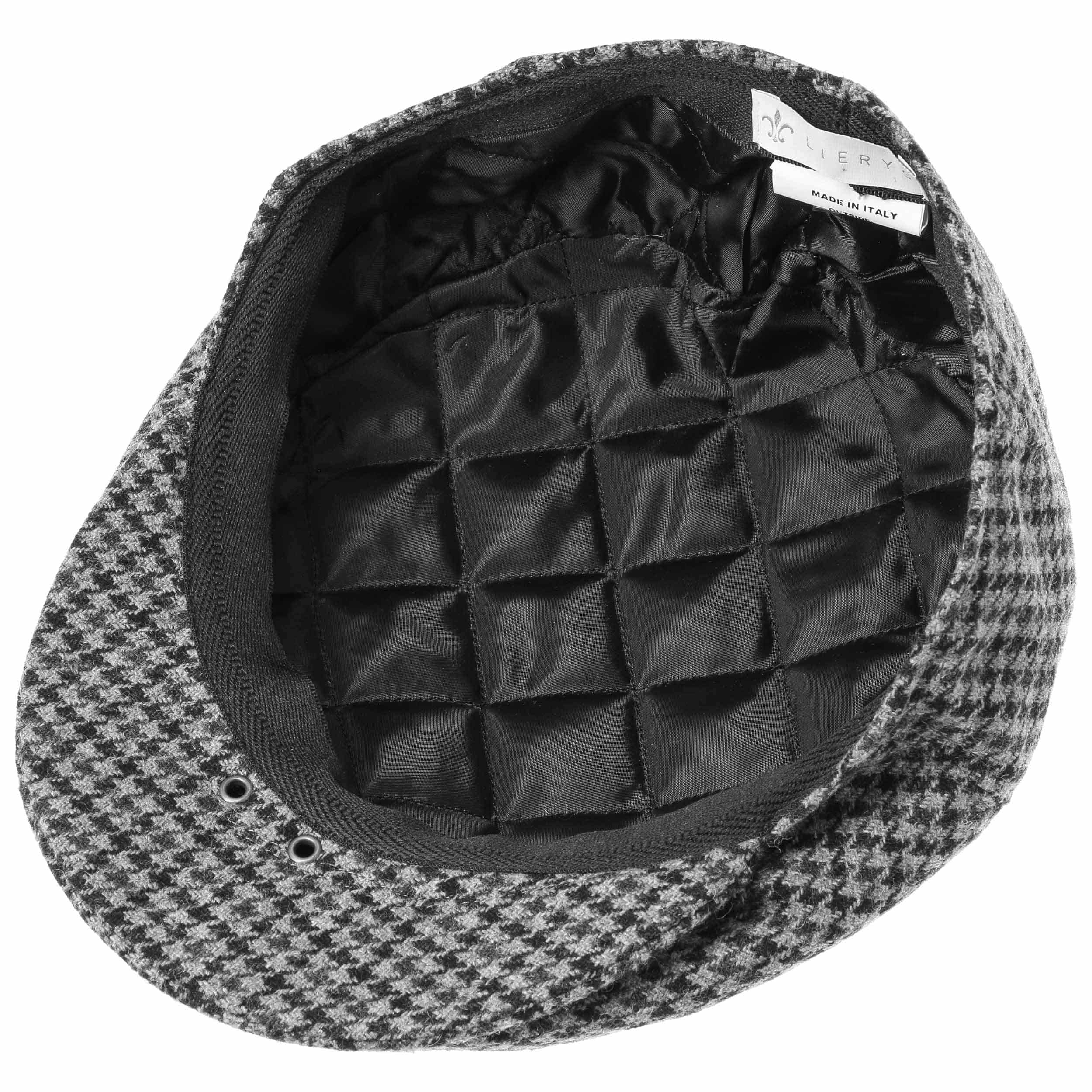79264a416 ... Britain Houndstooth Flat Cap by Lierys - grey 2 ...
