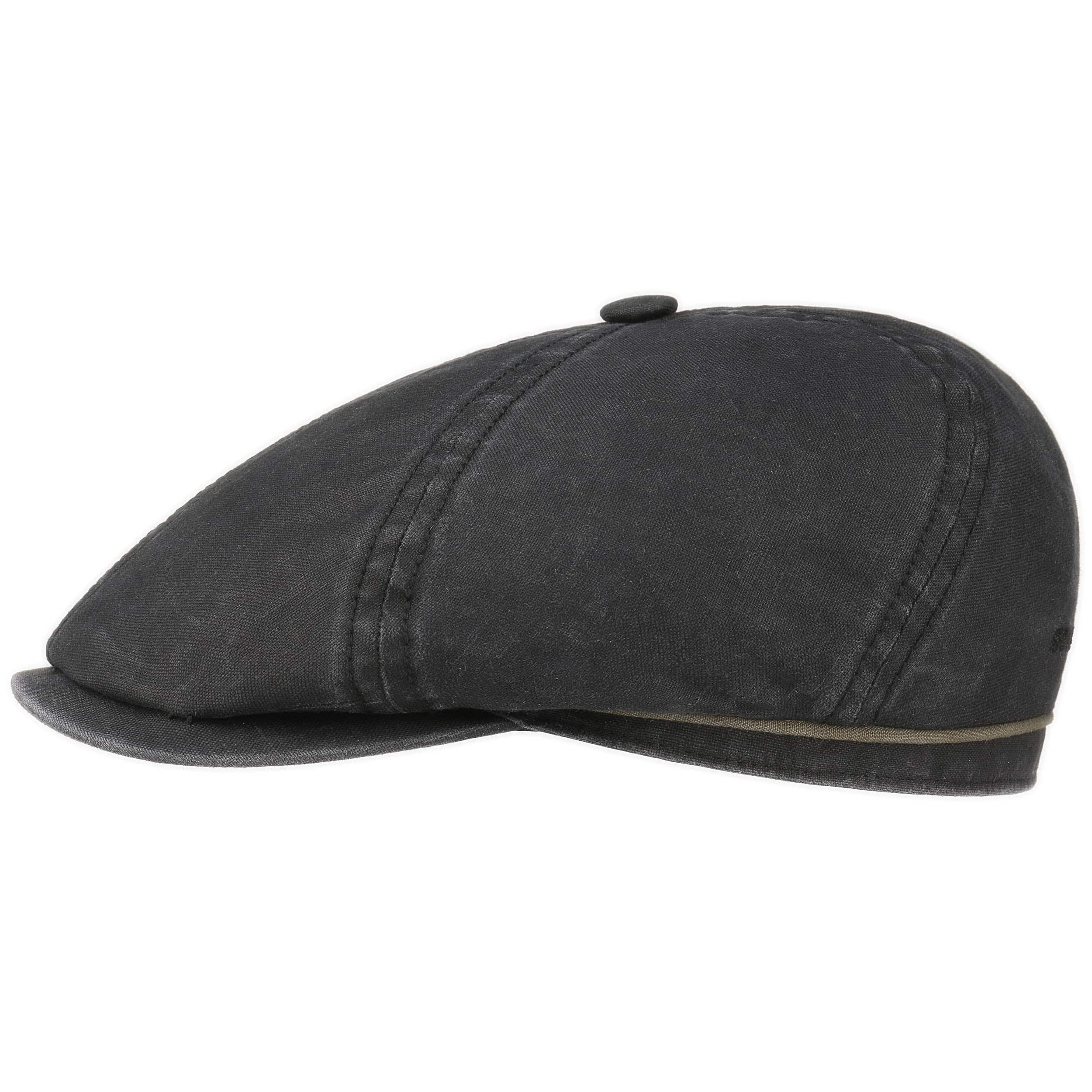 ... Brooklin Cotton Newsboy Cap by Stetson - black 1 9fda2d69cf9